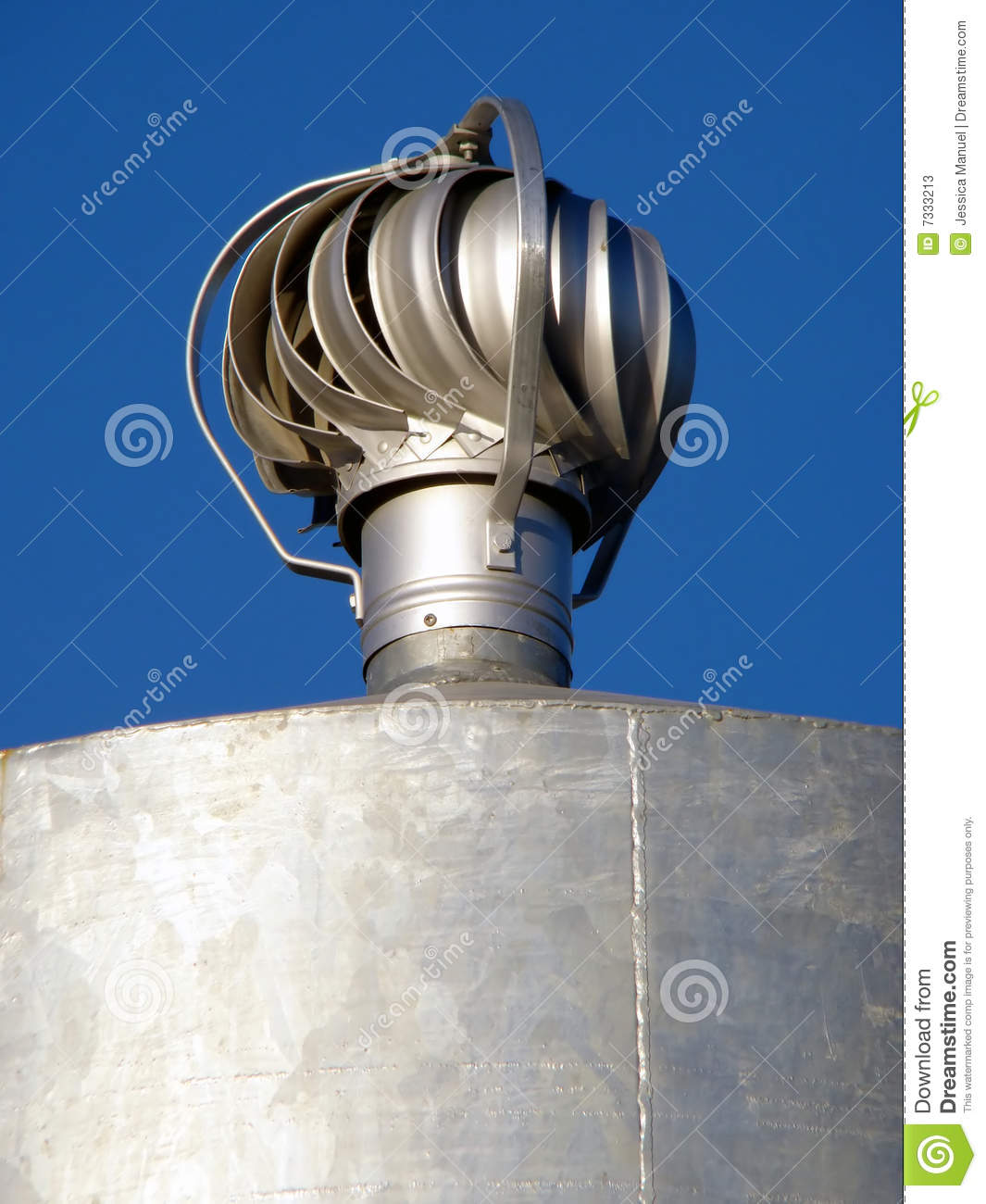 Rotating Metal Vent Stock Image Image Of Duct Emissions