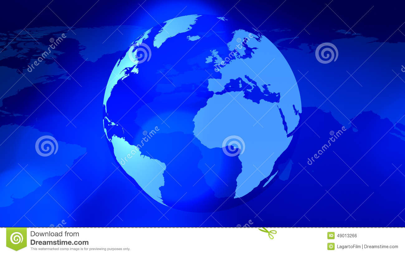 Rotating planet earth and world map global business background stock rotating planet earth and world map global business background stock footage video of concept blue 49013266 gumiabroncs Gallery