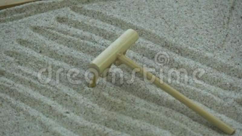 Rotating Small Zen Garden Box With Sand And Wooden Rake Stock Video   Video  Of Meditation, Background: 101332059