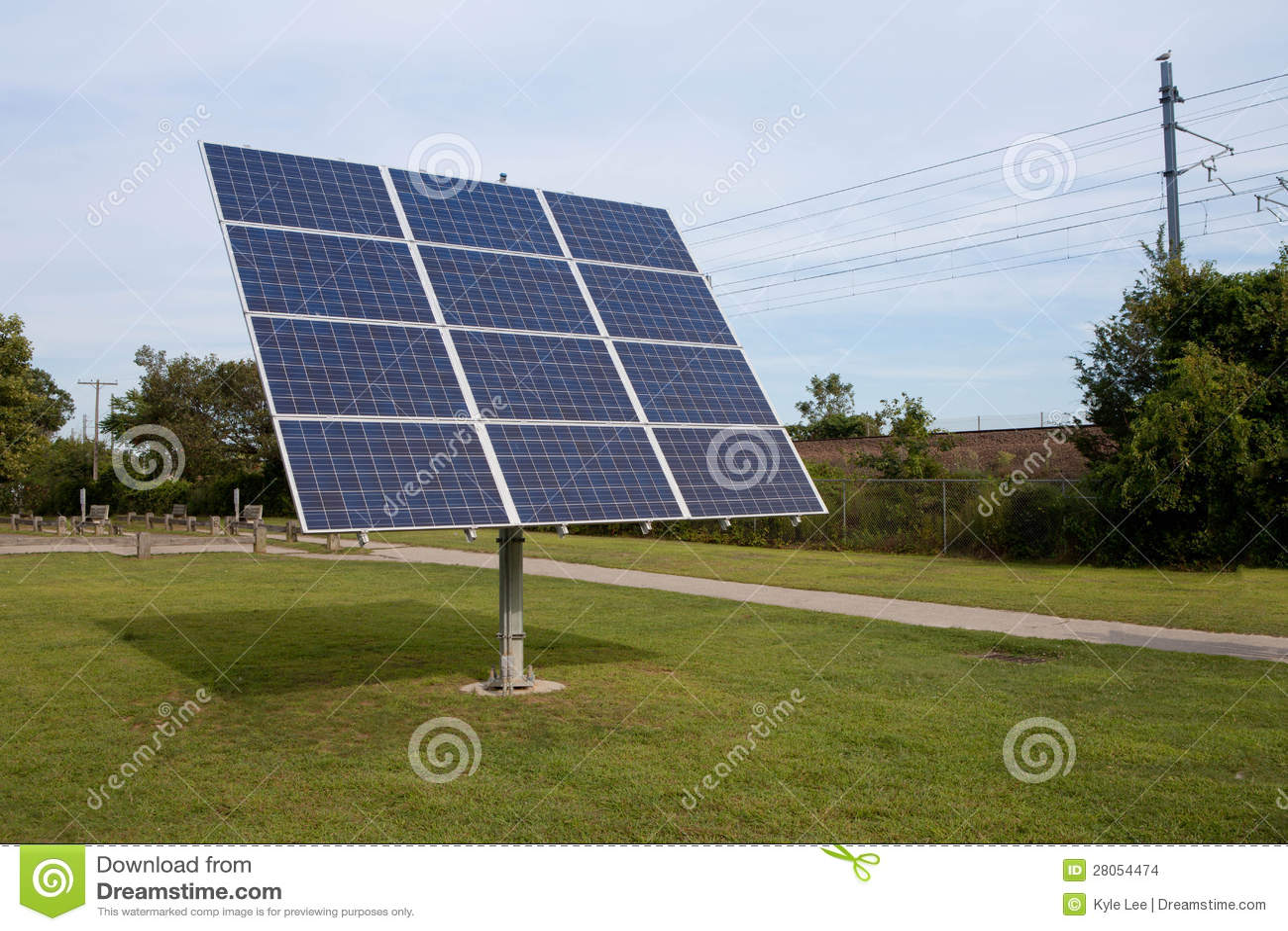 Rotating Solar Panels Stock Images - Image: 28054474