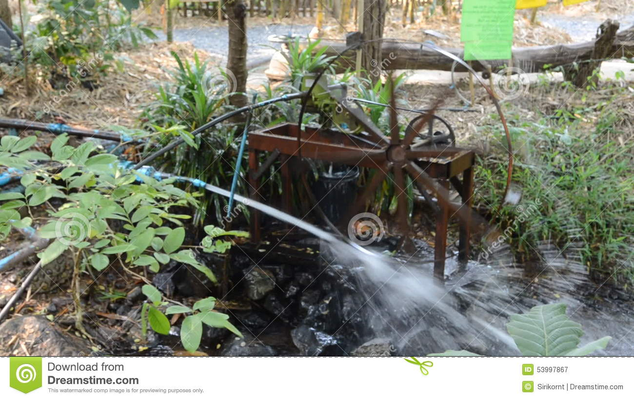 Rotating Water Wheel Wooden By Water Power . Stock Video   Video Of  Fragment, Crew: 53997867