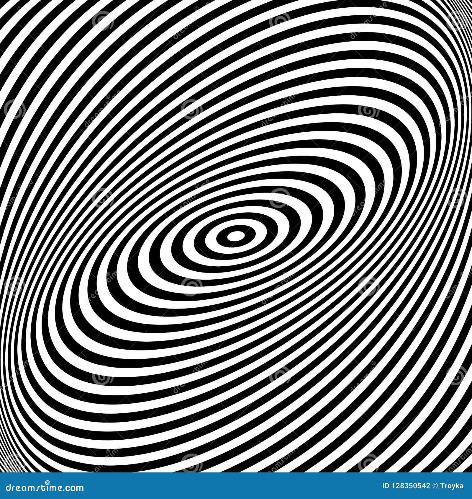 Rotation torsion movement illusion.