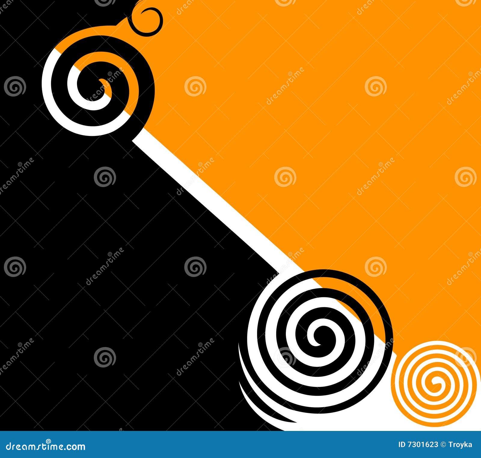Rotazioni nere & gialle astratte.