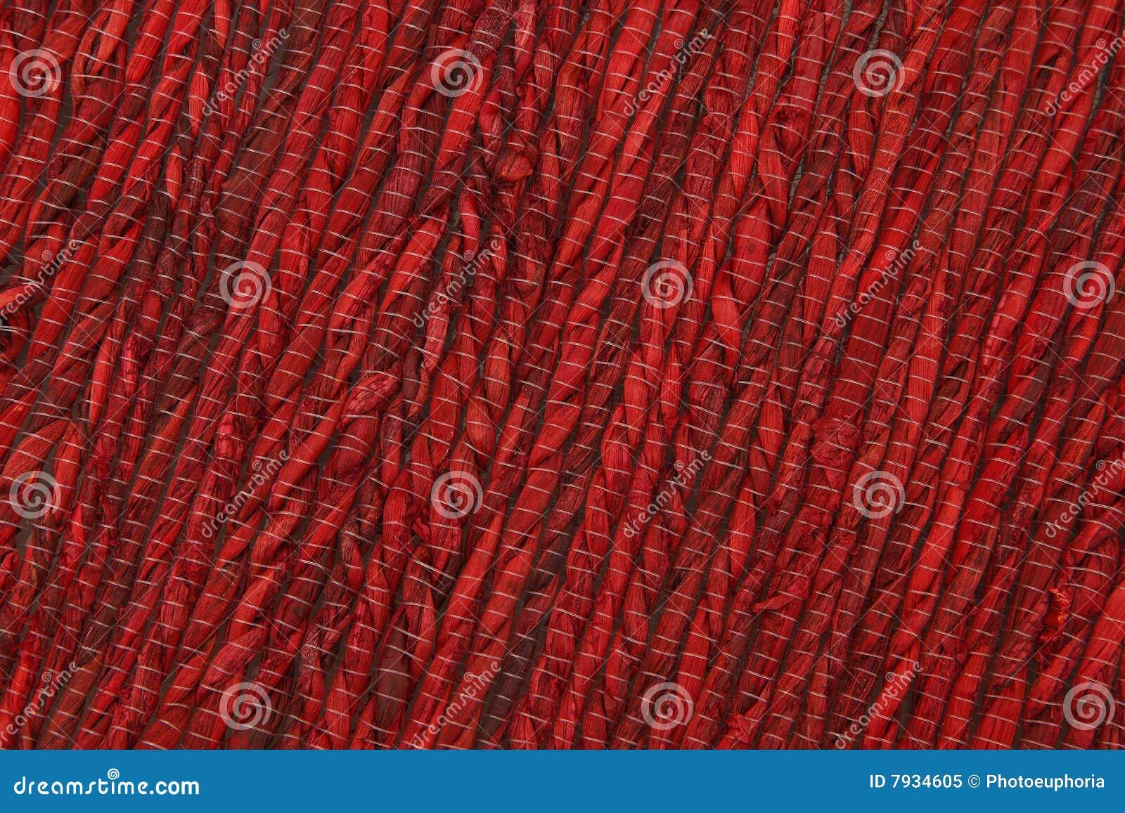 Rote Bambusmatten Beschaffenheit Stockbild Bild Von Platz Farbe