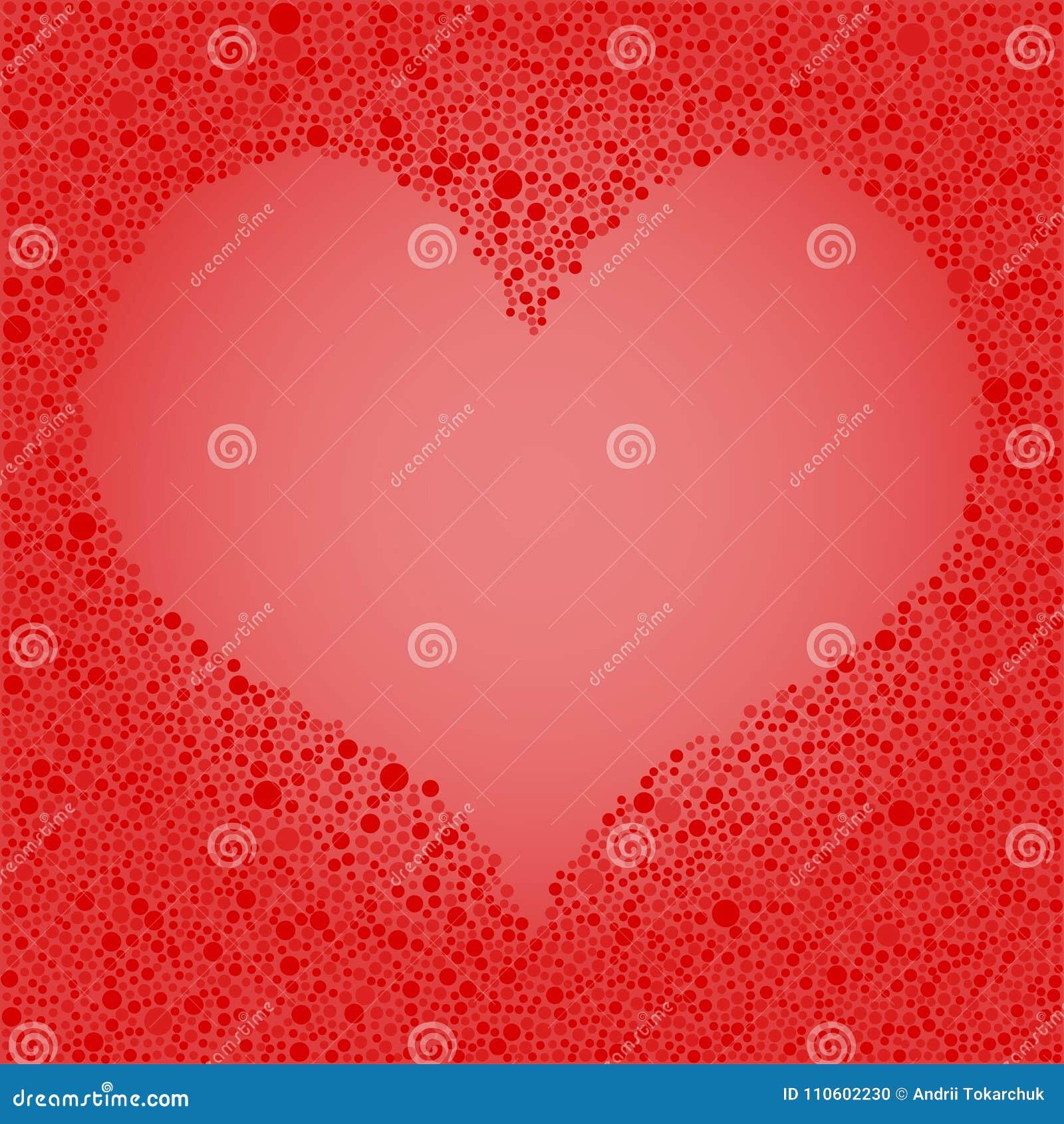 Rote Blasen-Kreis-Herz-Rahmen-Liebe Vektor Abbildung - Illustration ...