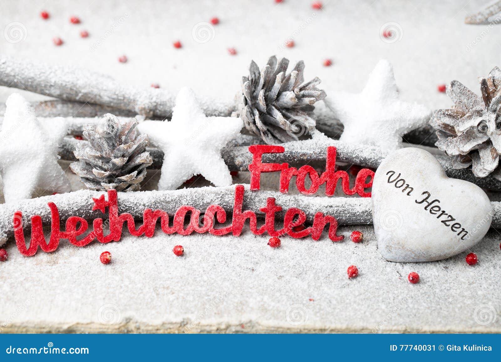 Buchstaben Frohe Weihnachten.Rote Buchstaben Mit Deutschem Frohe Weihnachten Bedeutet Frohe