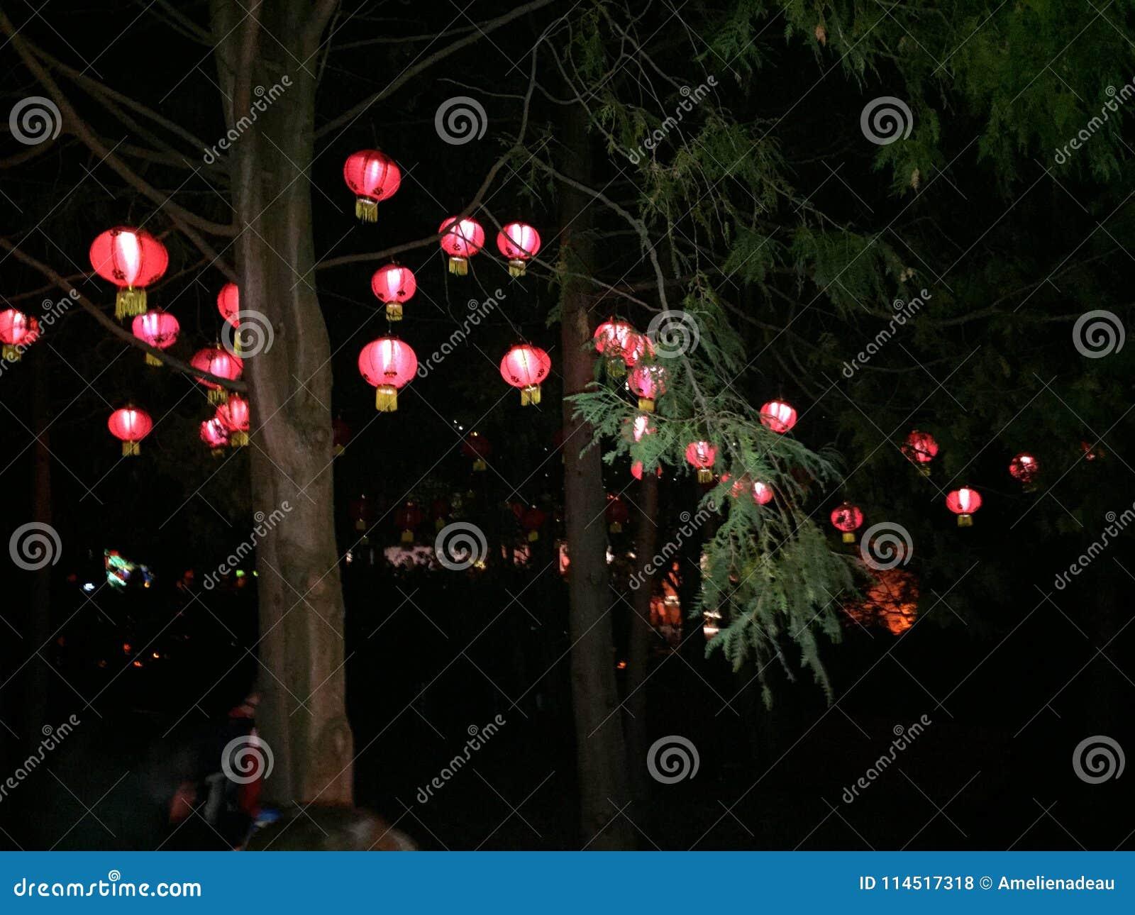 Rote chinesische Laternen
