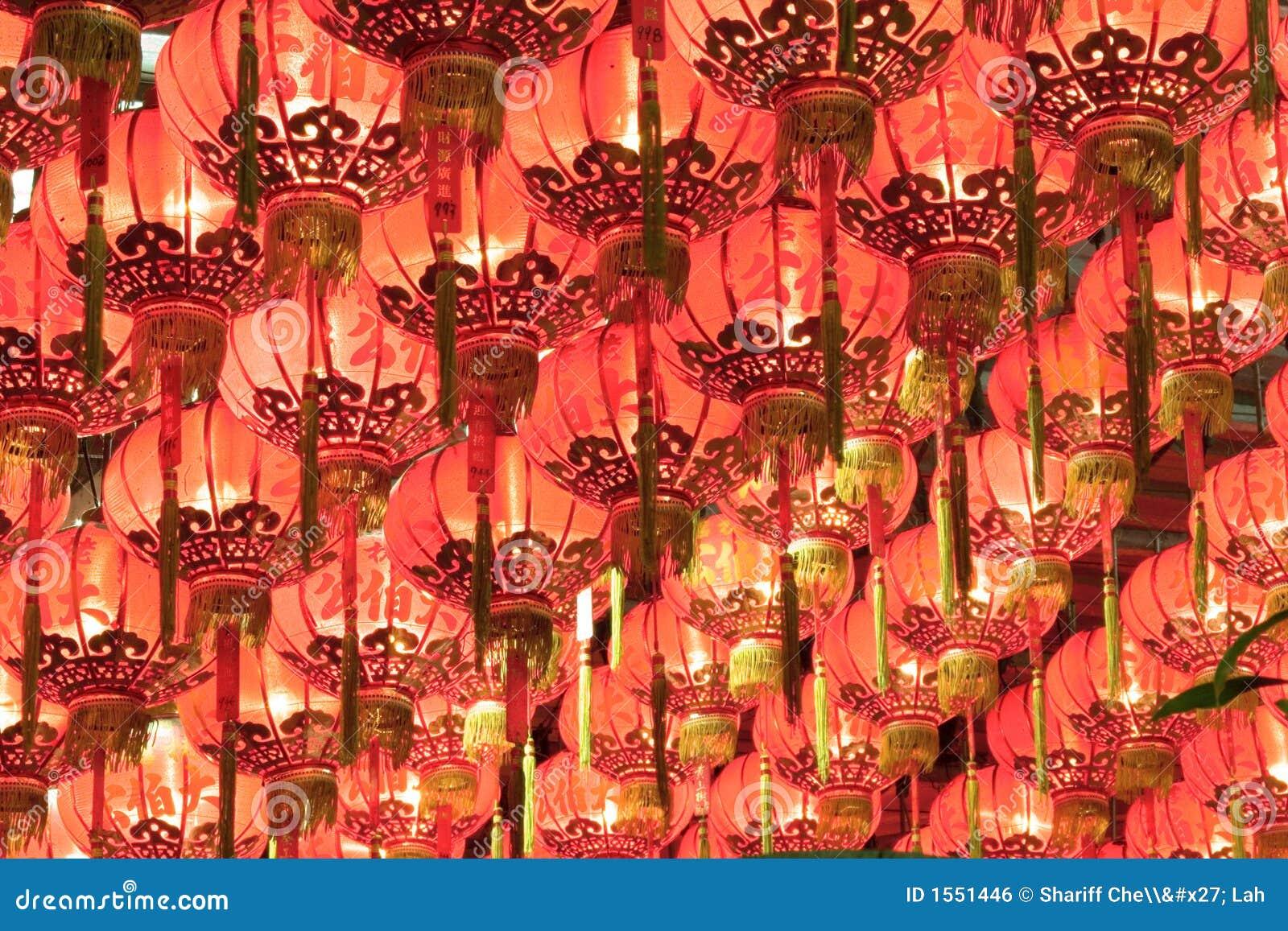 Rote Chinesische Laternen Lizenzfreies Stockbild - Bild: 1551446