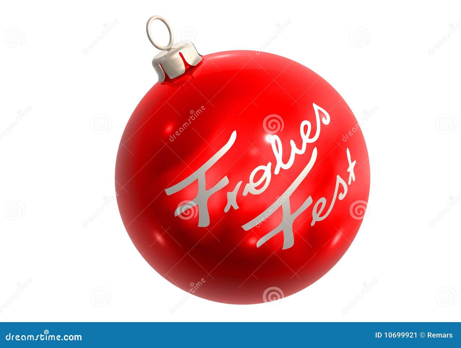 Rote christbaumkugel frohes fest stock illustration - Bilder weihnachtskugeln ...