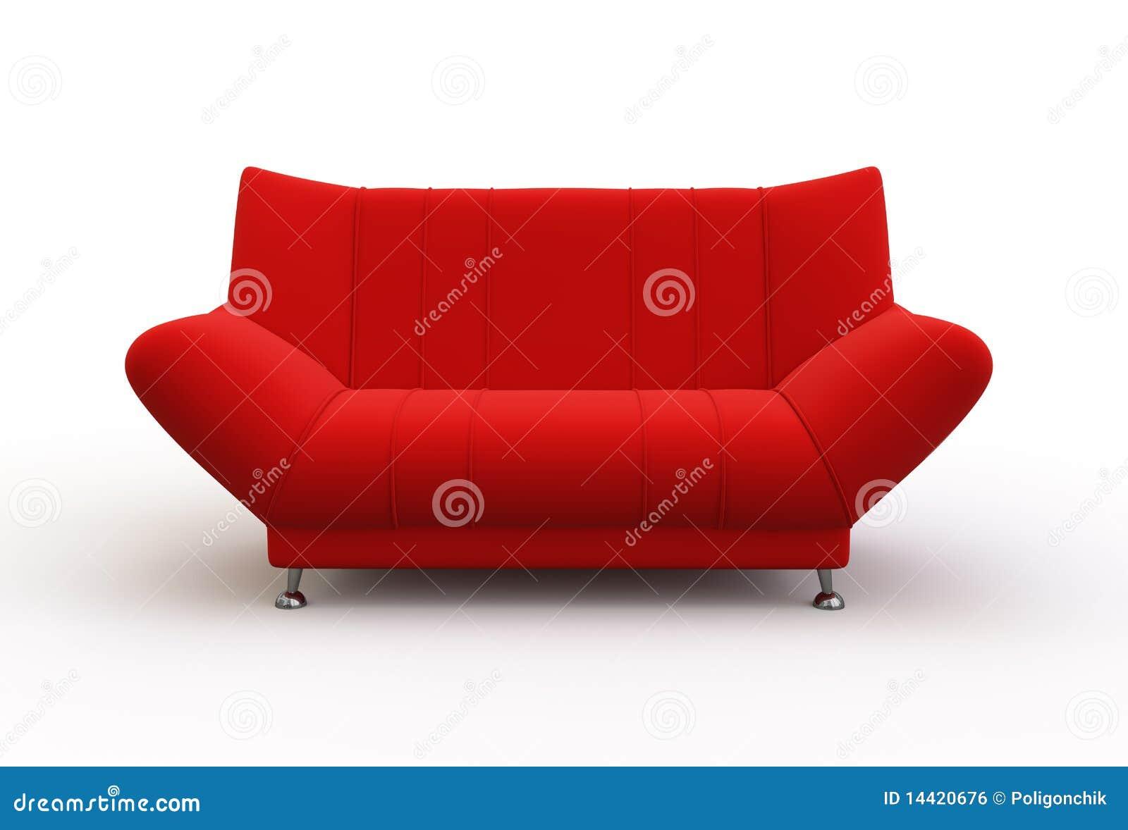Rote Couch Stock Abbildung Illustration Von Nachricht 14420676