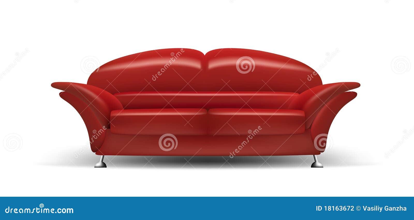 Rote Couch Vektor Abbildung Illustration Von Freizeit 18163672