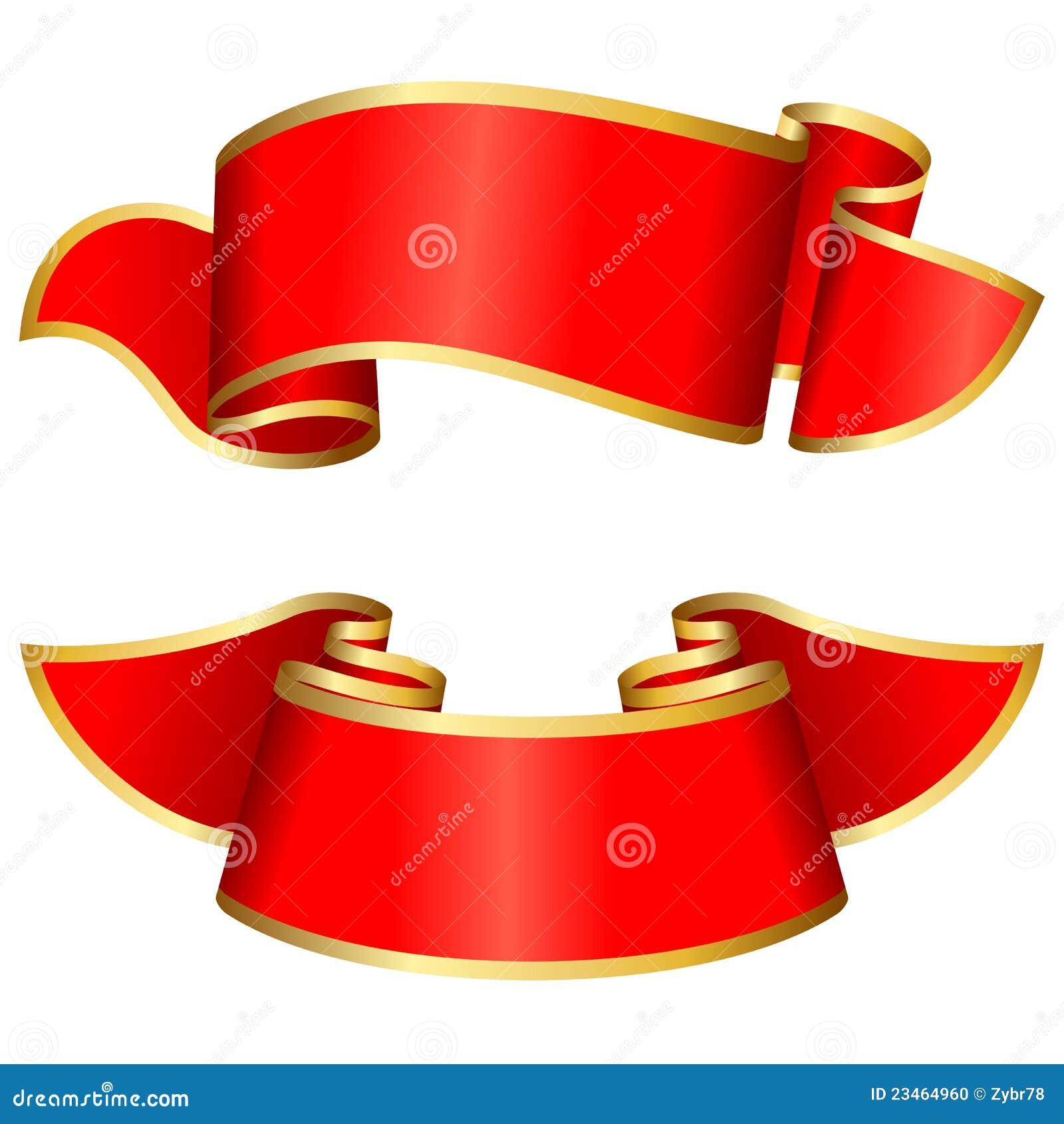 Rote Farbbandansammlung