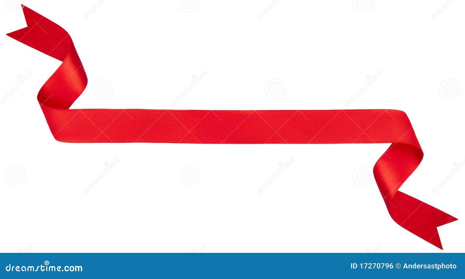 Rote Farbbandfahne