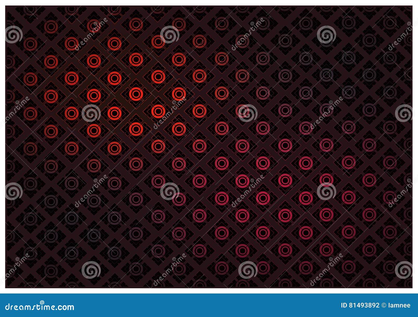 Download Rote Farbe Des Thailändischen Weinlese Tapeten Muster Hintergrundes  Vektor Abbildung   Illustration