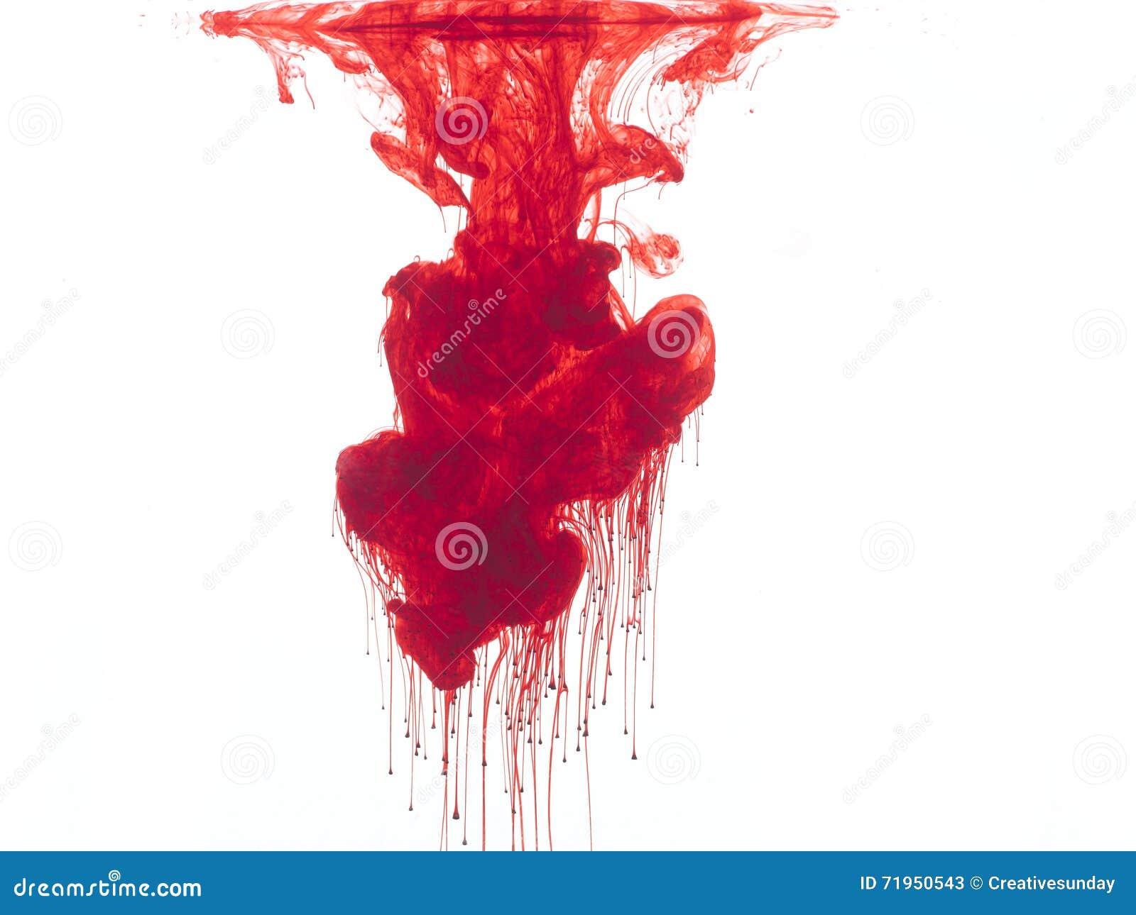 Rote Farbe Im Wasser Stockbild Bild Von Hintergrund 71950543