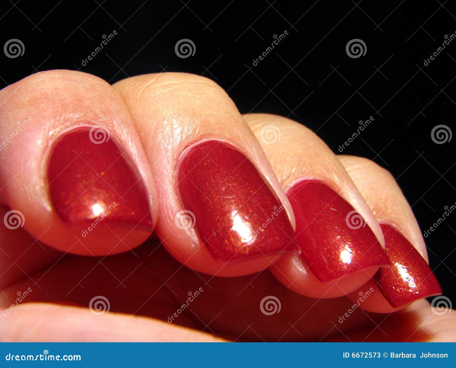 rote fingern gel stockfotos bild 6672573. Black Bedroom Furniture Sets. Home Design Ideas