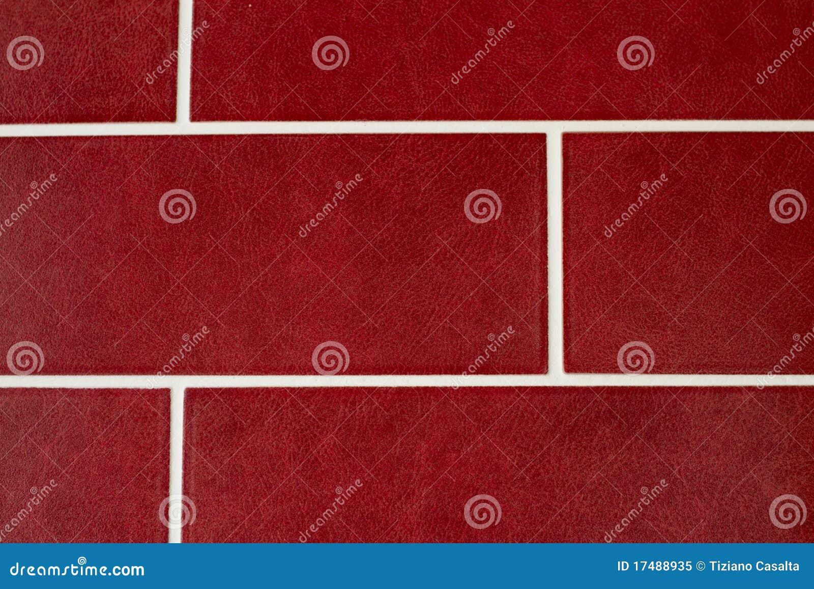 Rote fliesen stockbild bild von tapete auslegung wand - Rote tapete ...
