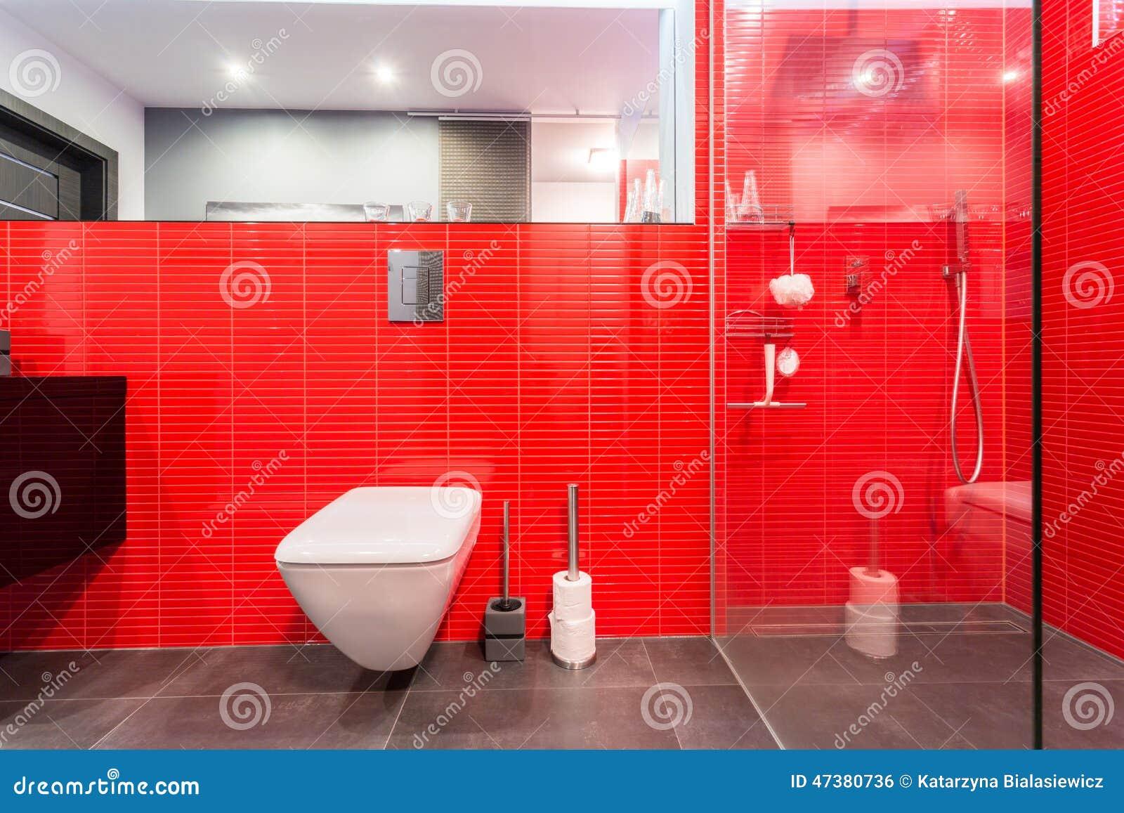 rote fliesen auf der wand stockfoto bild 47380736. Black Bedroom Furniture Sets. Home Design Ideas