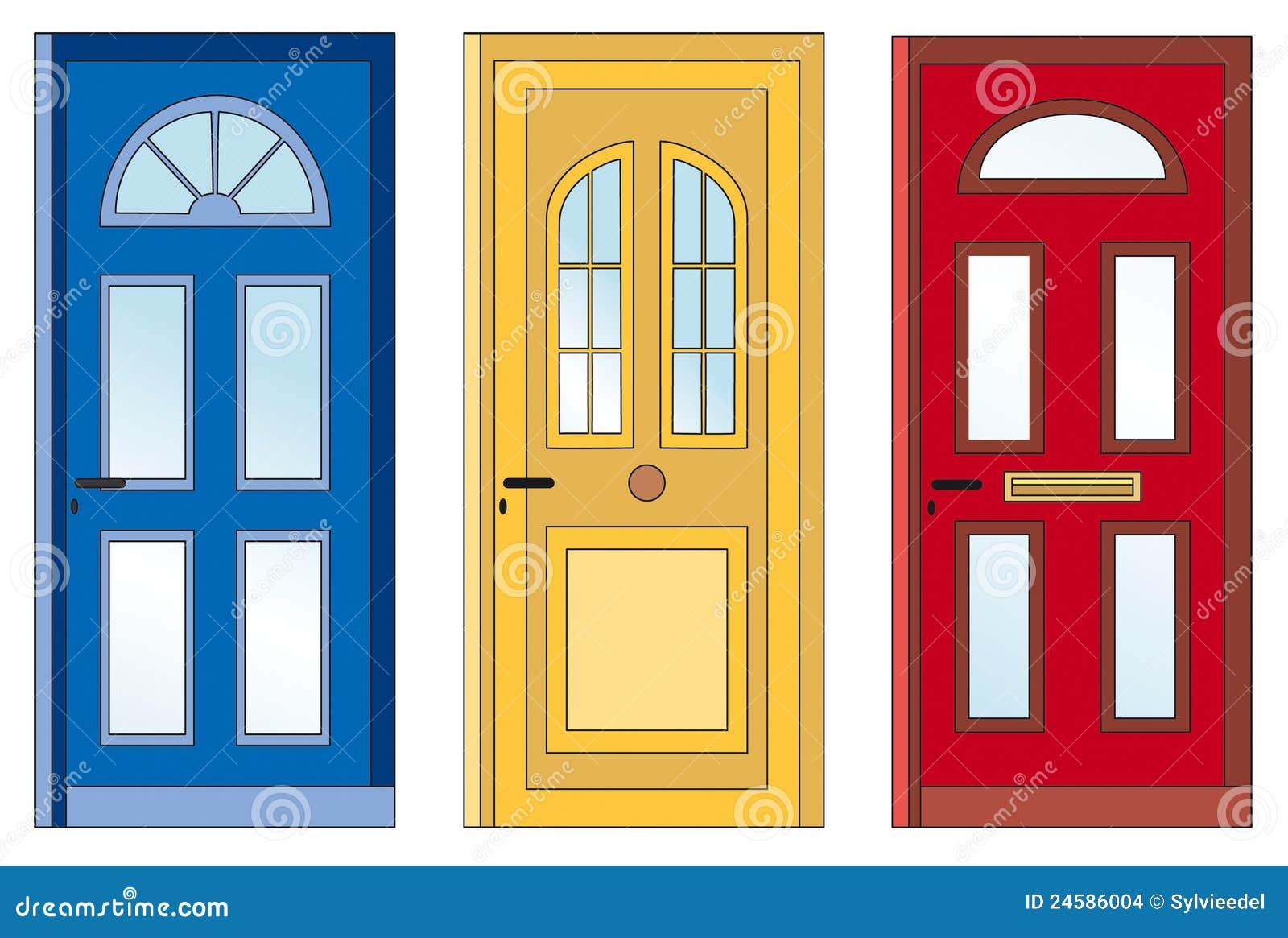 rote gelbe blaue t ren stockbilder bild 24586004. Black Bedroom Furniture Sets. Home Design Ideas