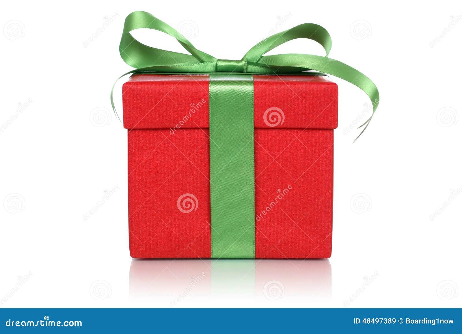 rote geschenkbox mit bogen f r geschenke auf weihnachten. Black Bedroom Furniture Sets. Home Design Ideas