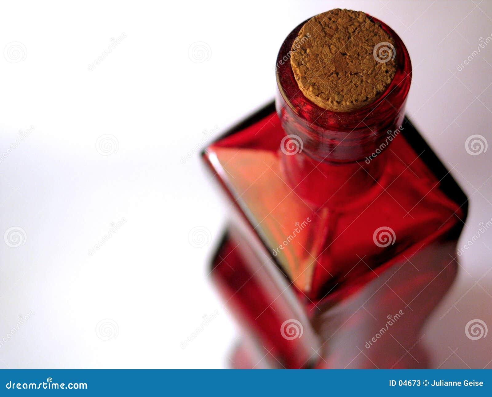 Rote Glasflasche #2