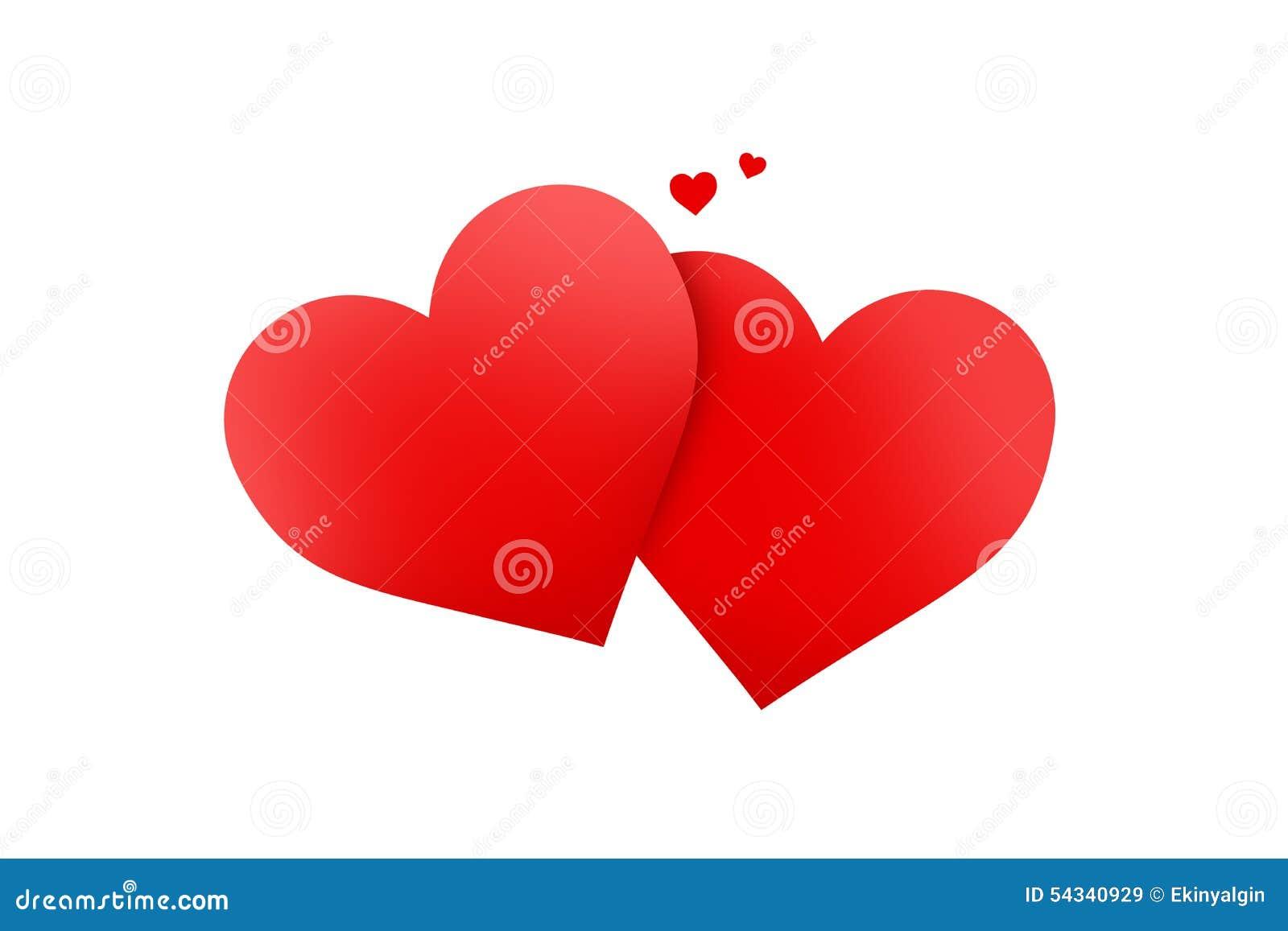 Rote Herz-Zeichen stock abbildung. Illustration von ikone