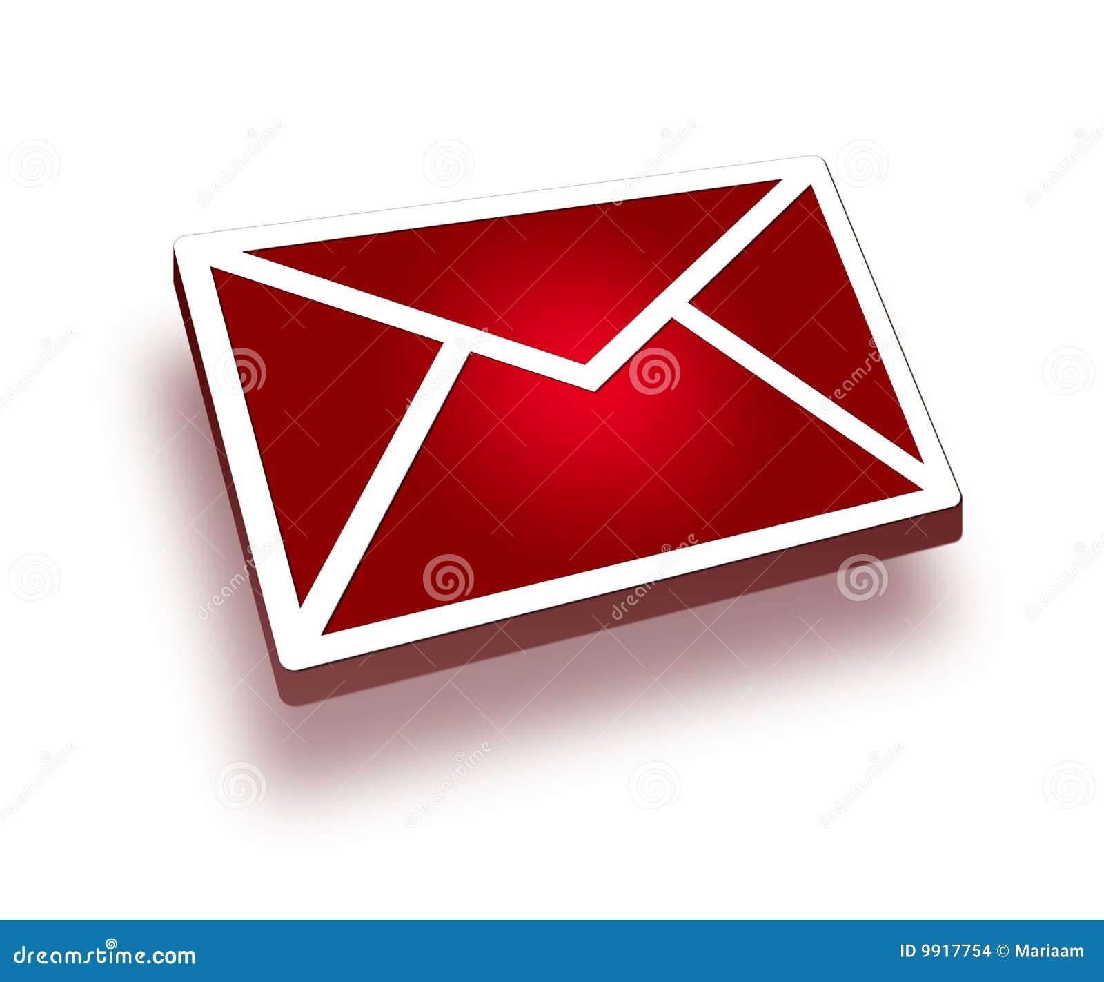 Rote Ikone der Post 3d