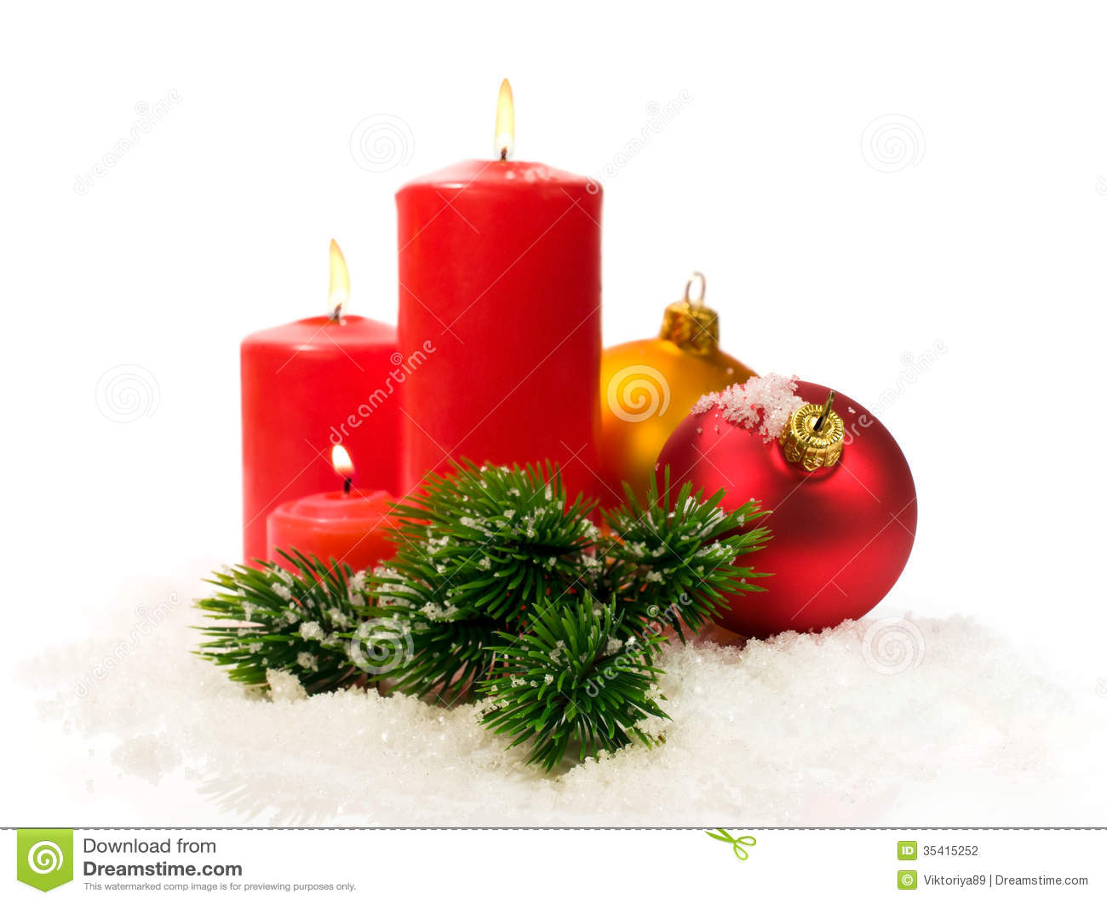 rote kerzen und tannenzweige und weihnachtsb lle im schnee stockfoto bild von tanne feier. Black Bedroom Furniture Sets. Home Design Ideas