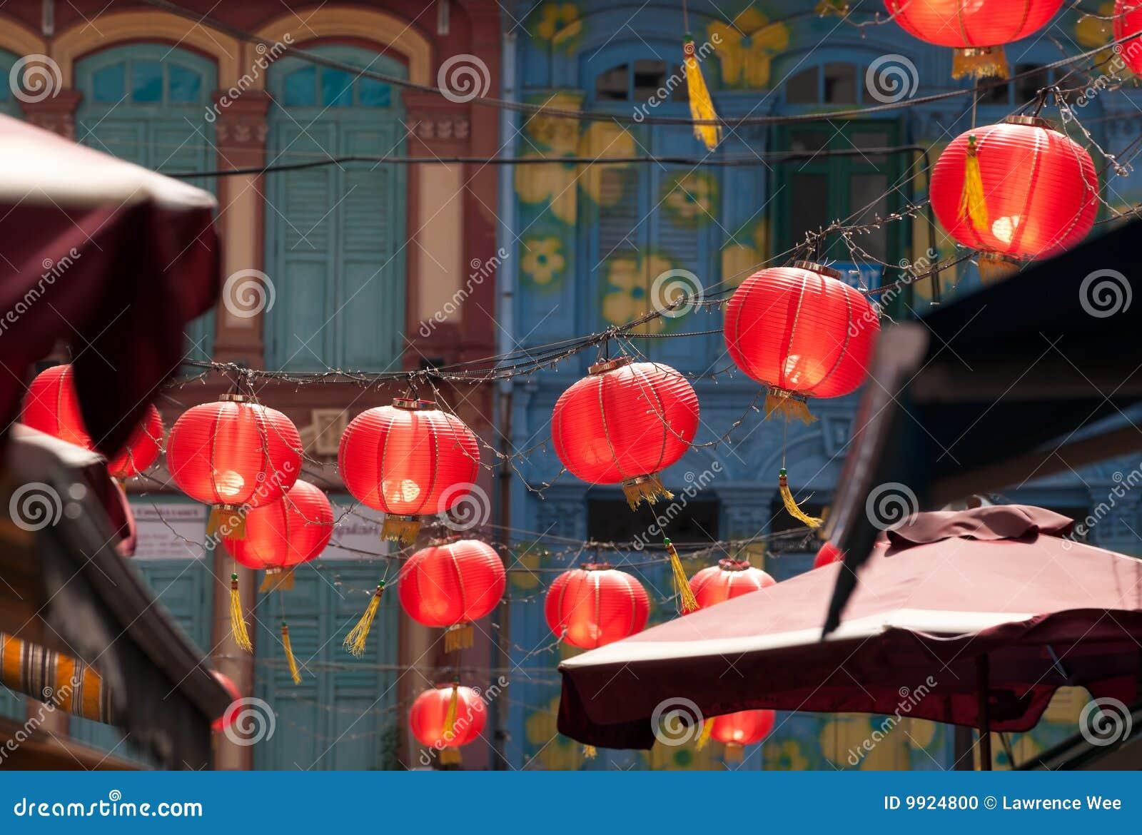 rote laternen in chinatown stockfoto bild 9924800. Black Bedroom Furniture Sets. Home Design Ideas