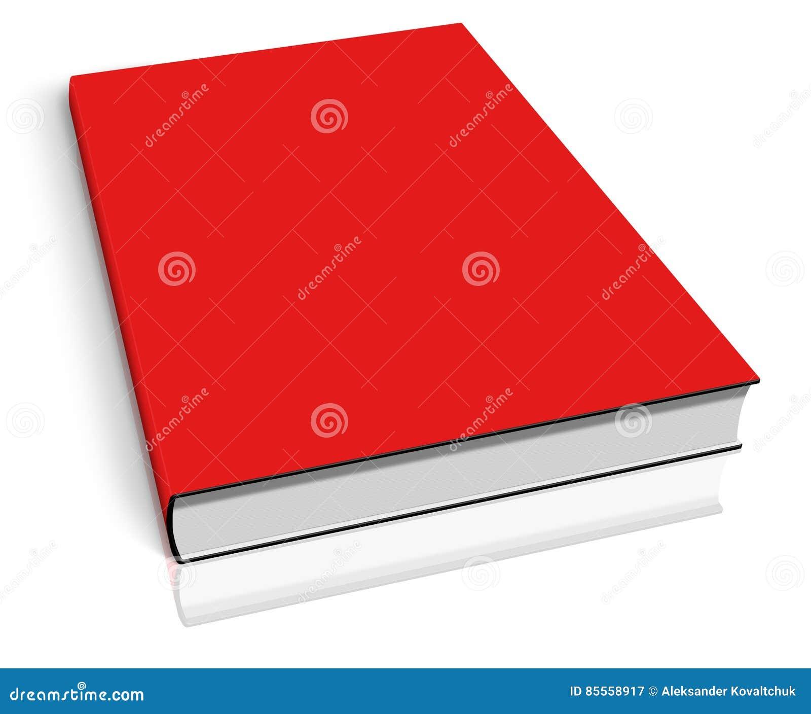 Rote leere Buchschablone