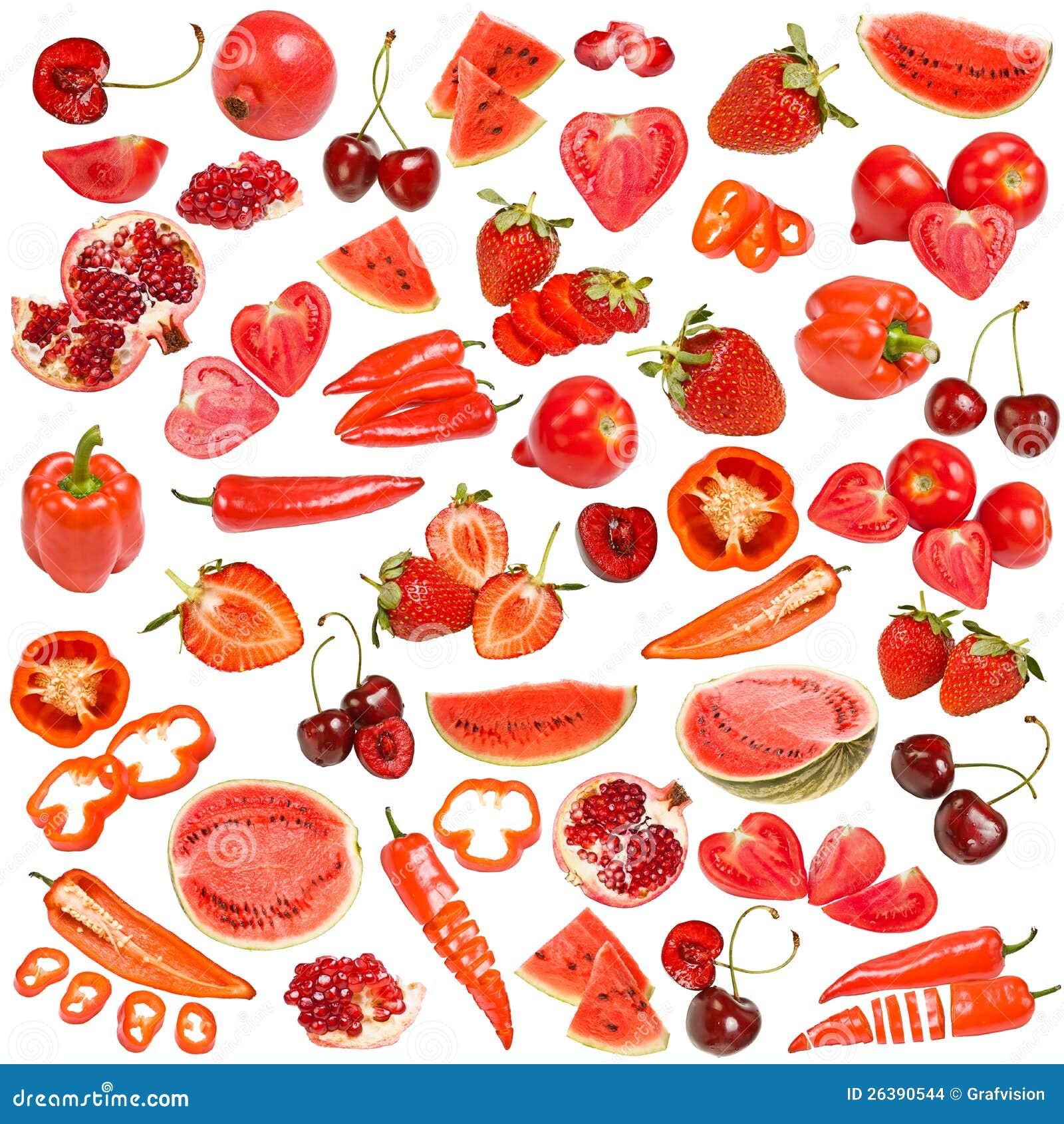 Rote Nahrungsmittelansammlung