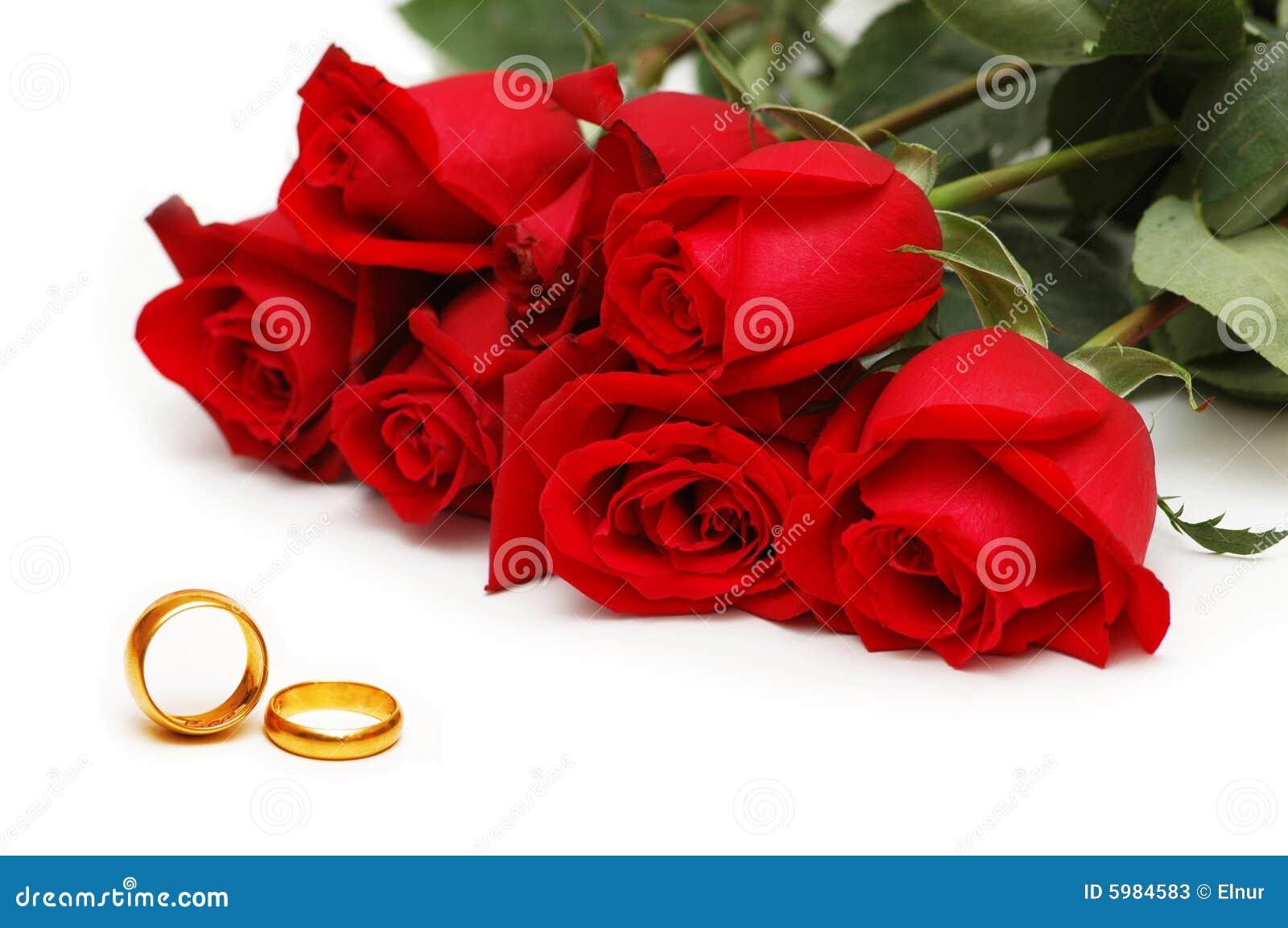 rote rosen und ringe getrennt stockbild bild 5984583. Black Bedroom Furniture Sets. Home Design Ideas