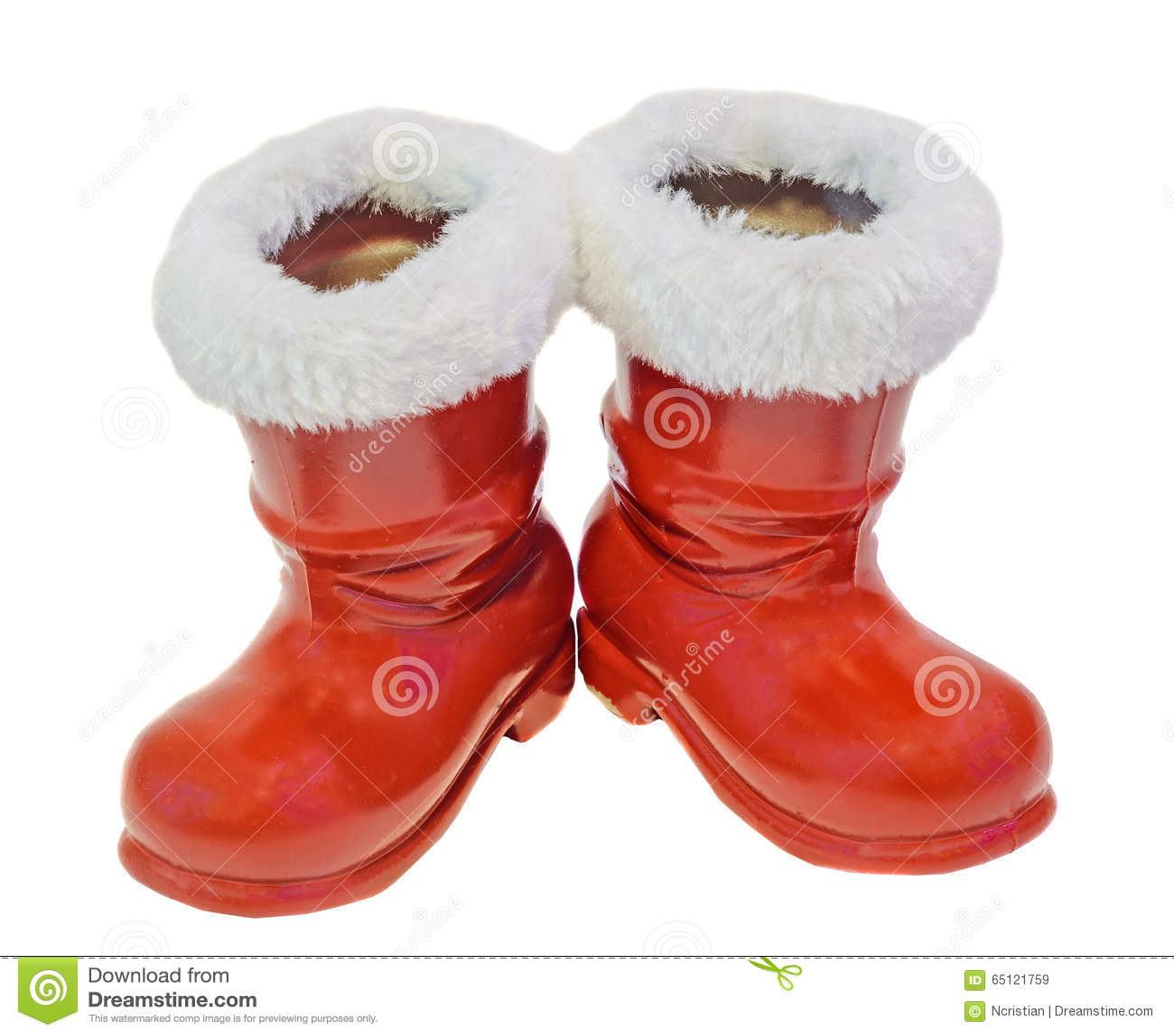 Rote Santa Claus Stiefel Schuhe Sankt Nikolaus Ladt Geschenke