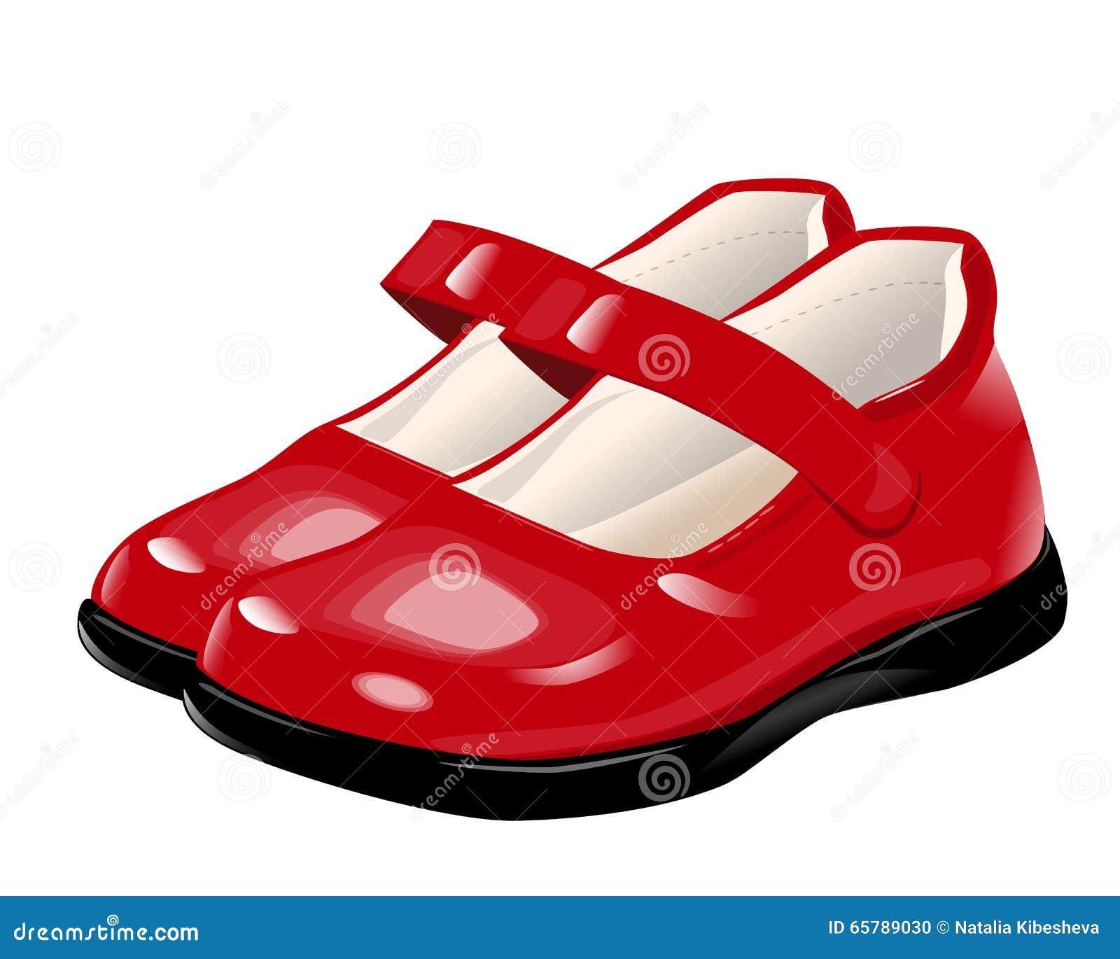 60% Rabatt bestbewerteter Beamter gutes Geschäft Rote Schuhe für Mädchen stock abbildung. Illustration von ...