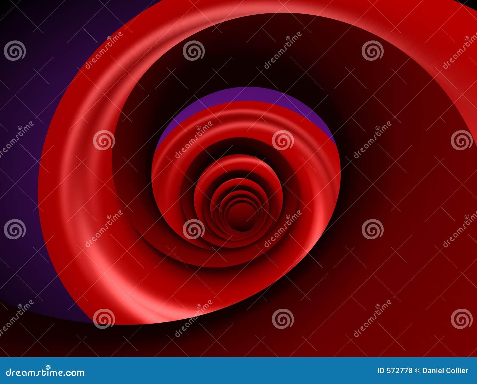 Rote Spirale