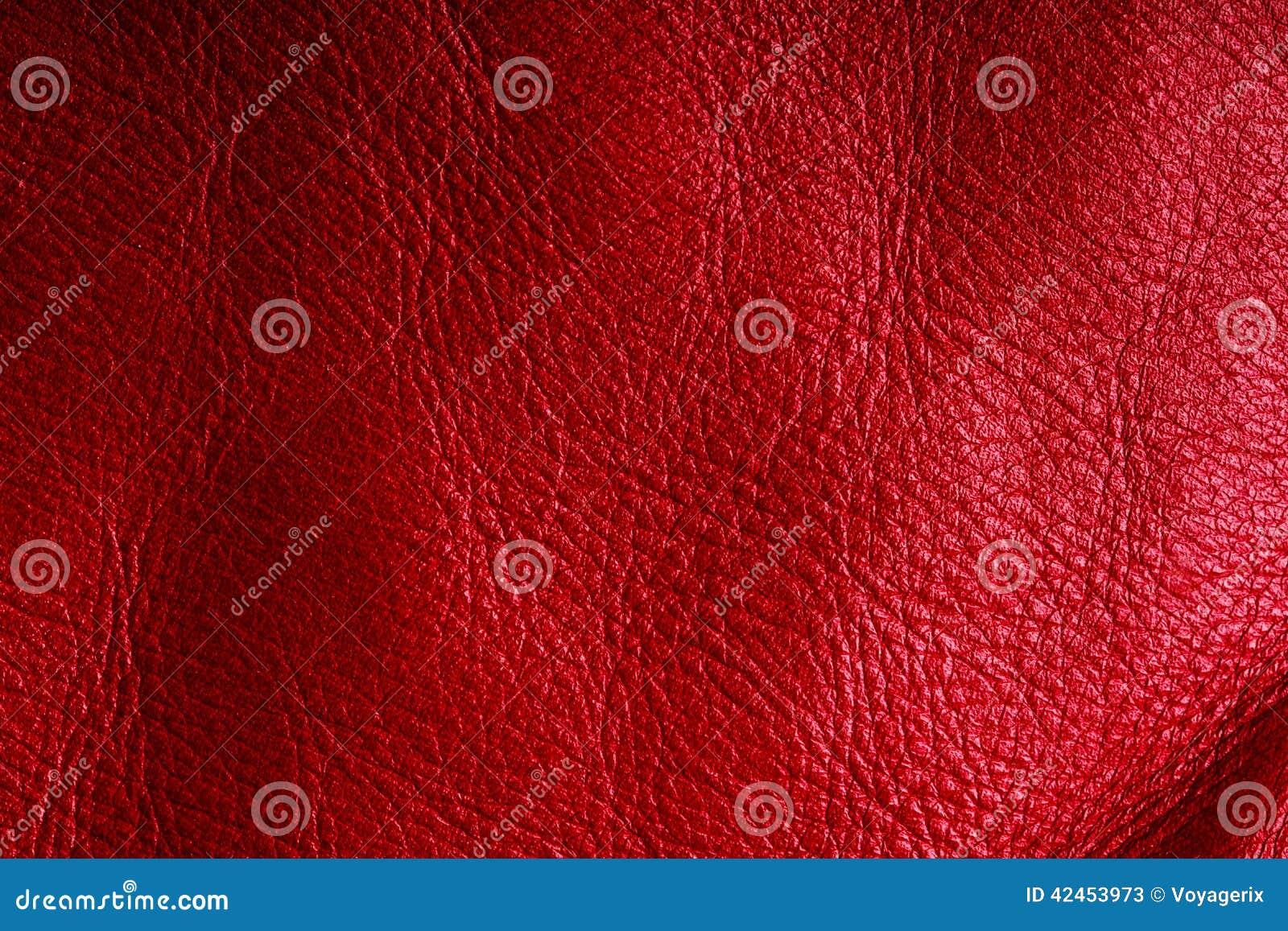 Rote strukturierte lederne Schmutzhintergrundnahaufnahme