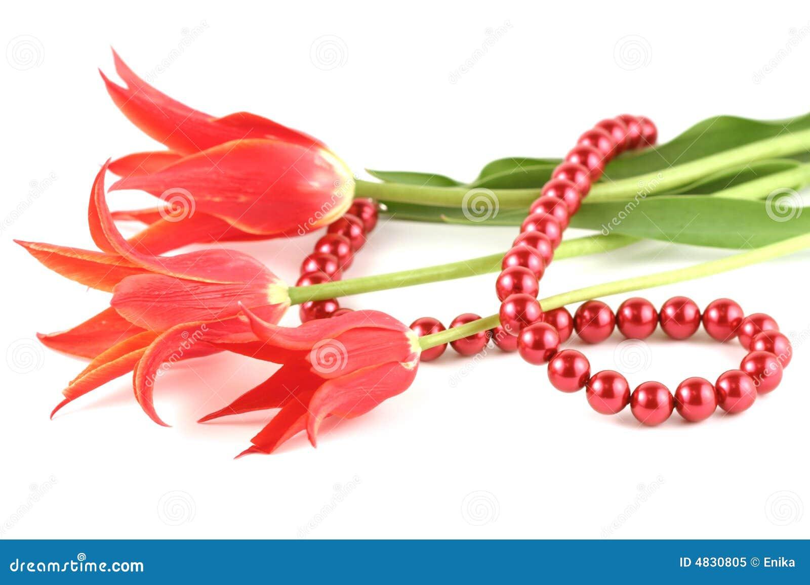 Rote Tulpen und Korn
