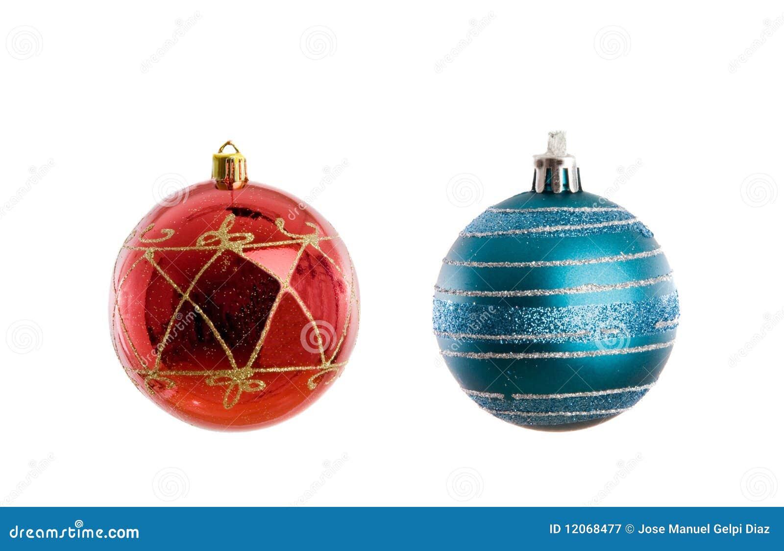 rote und blaue kugeln von weihnachten stockbild bild. Black Bedroom Furniture Sets. Home Design Ideas