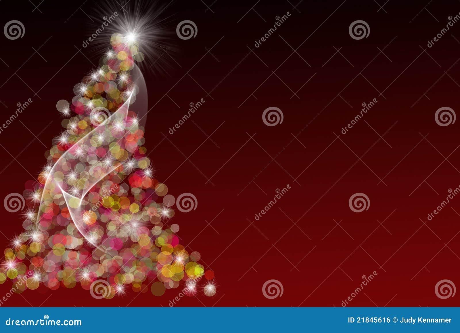 Rote Weihnachtsbaum-Abbildung
