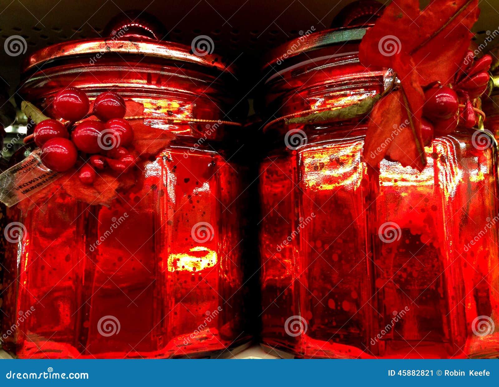 rote weihnachtsgl ser stockfoto bild 45882821. Black Bedroom Furniture Sets. Home Design Ideas