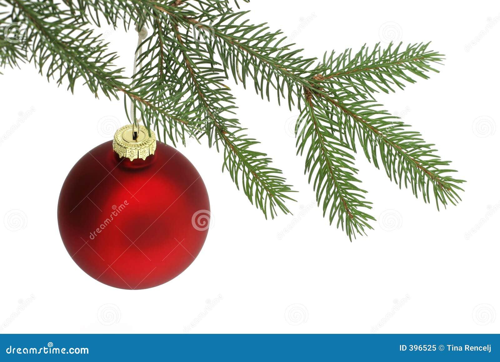 Rote weihnachtskugel stockbild bild von flitter for Weihnachtskugeln bilder