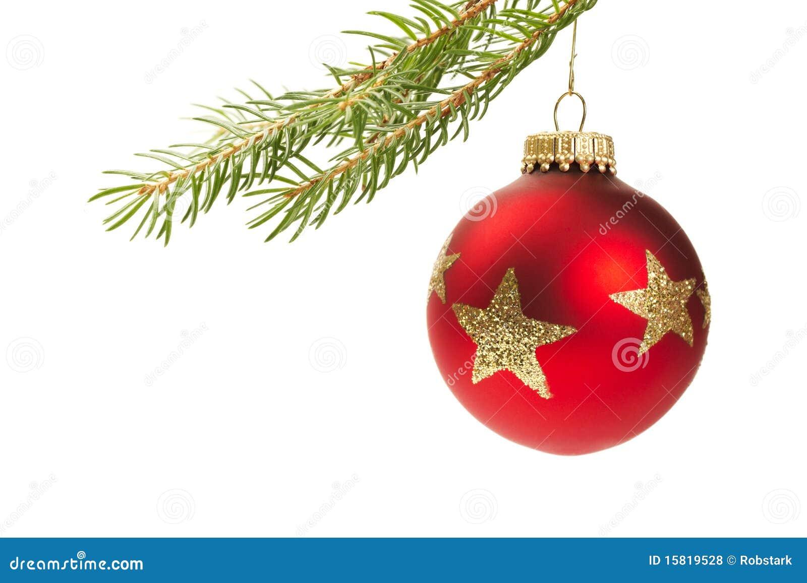 Rote weihnachtskugel die an einem zweig h ngt stockfoto bild von weihnachten celebrate 15819528 - Bilder weihnachtskugeln ...