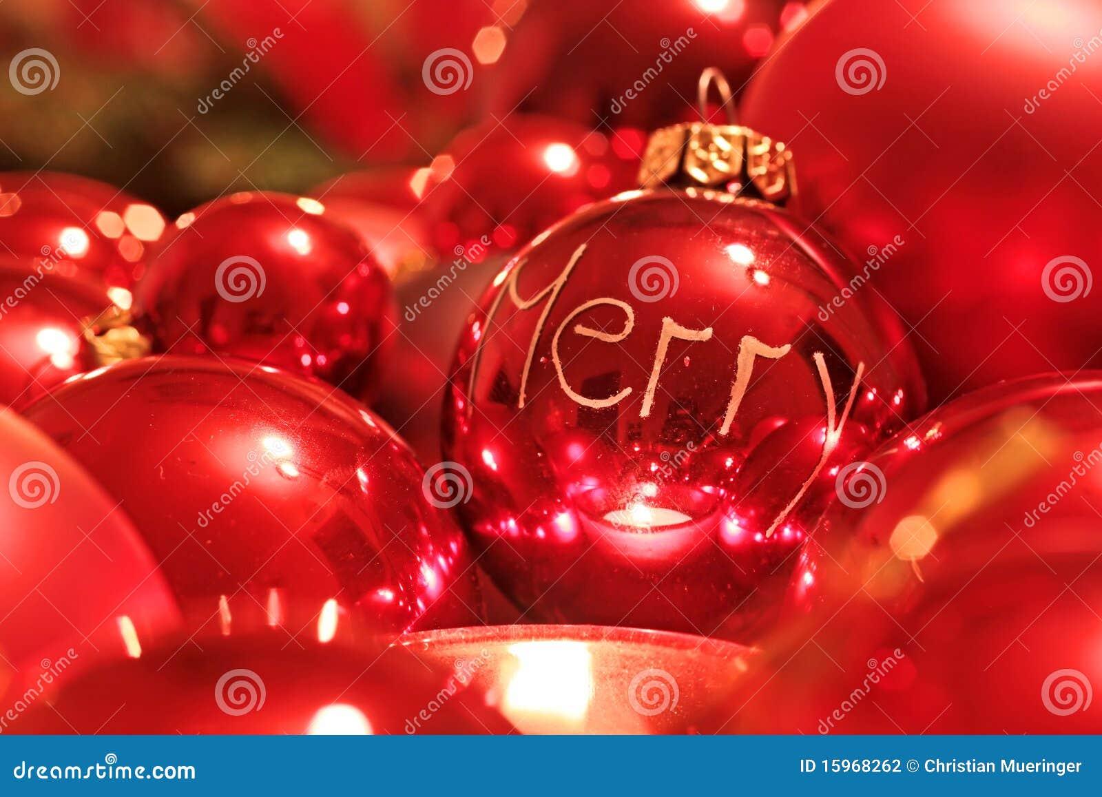 rote weihnachtskugeln stockfotografie bild 15968262. Black Bedroom Furniture Sets. Home Design Ideas