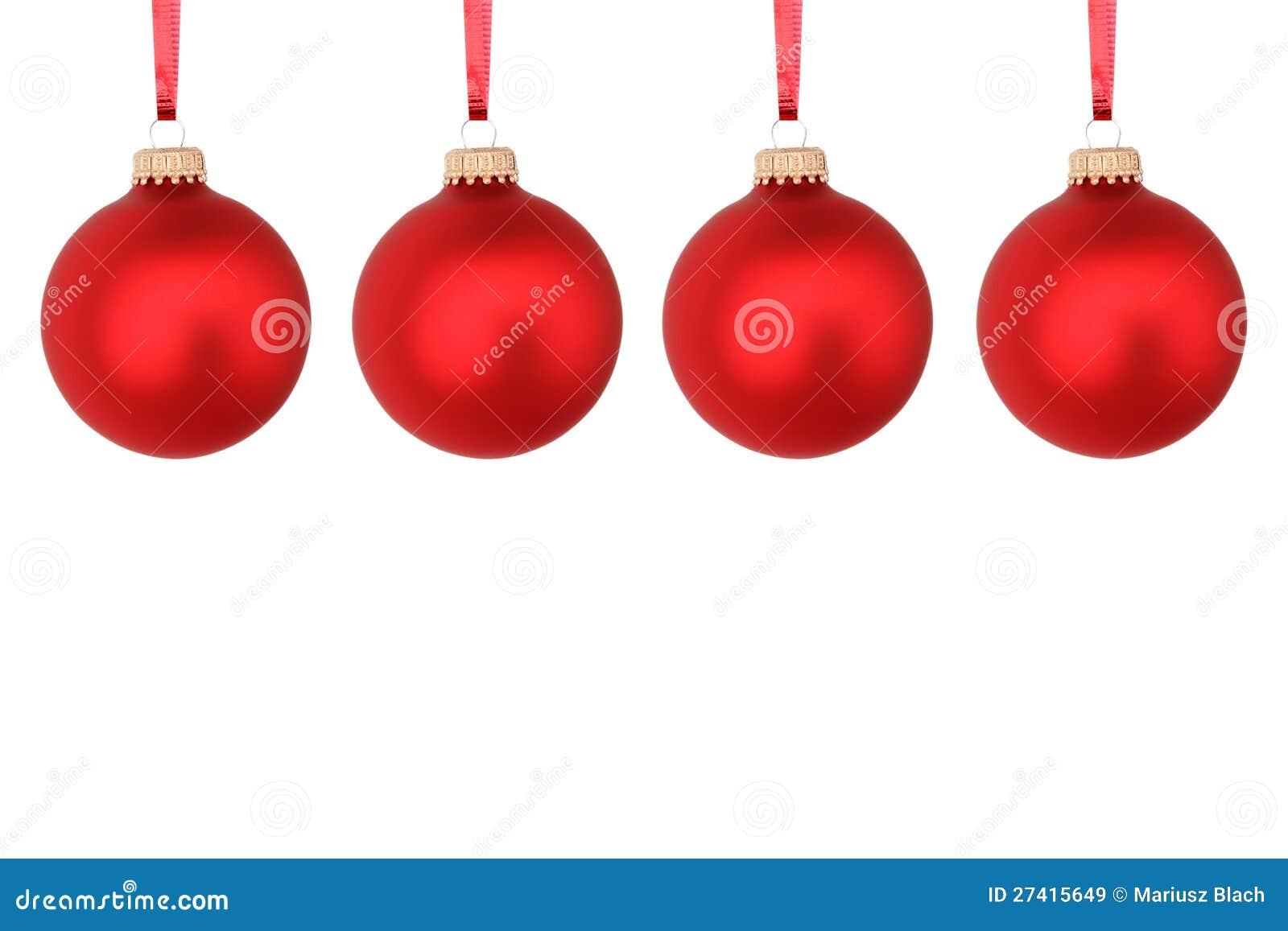 rote weihnachtskugeln stockbild bild von glas farbe 27415649. Black Bedroom Furniture Sets. Home Design Ideas