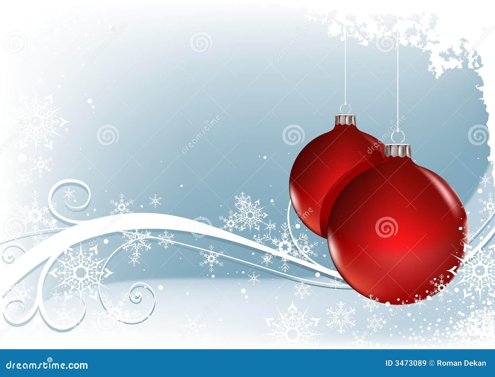 Rote weihnachtskugeln vektor abbildung bild von blau for Weihnachtskugeln bilder
