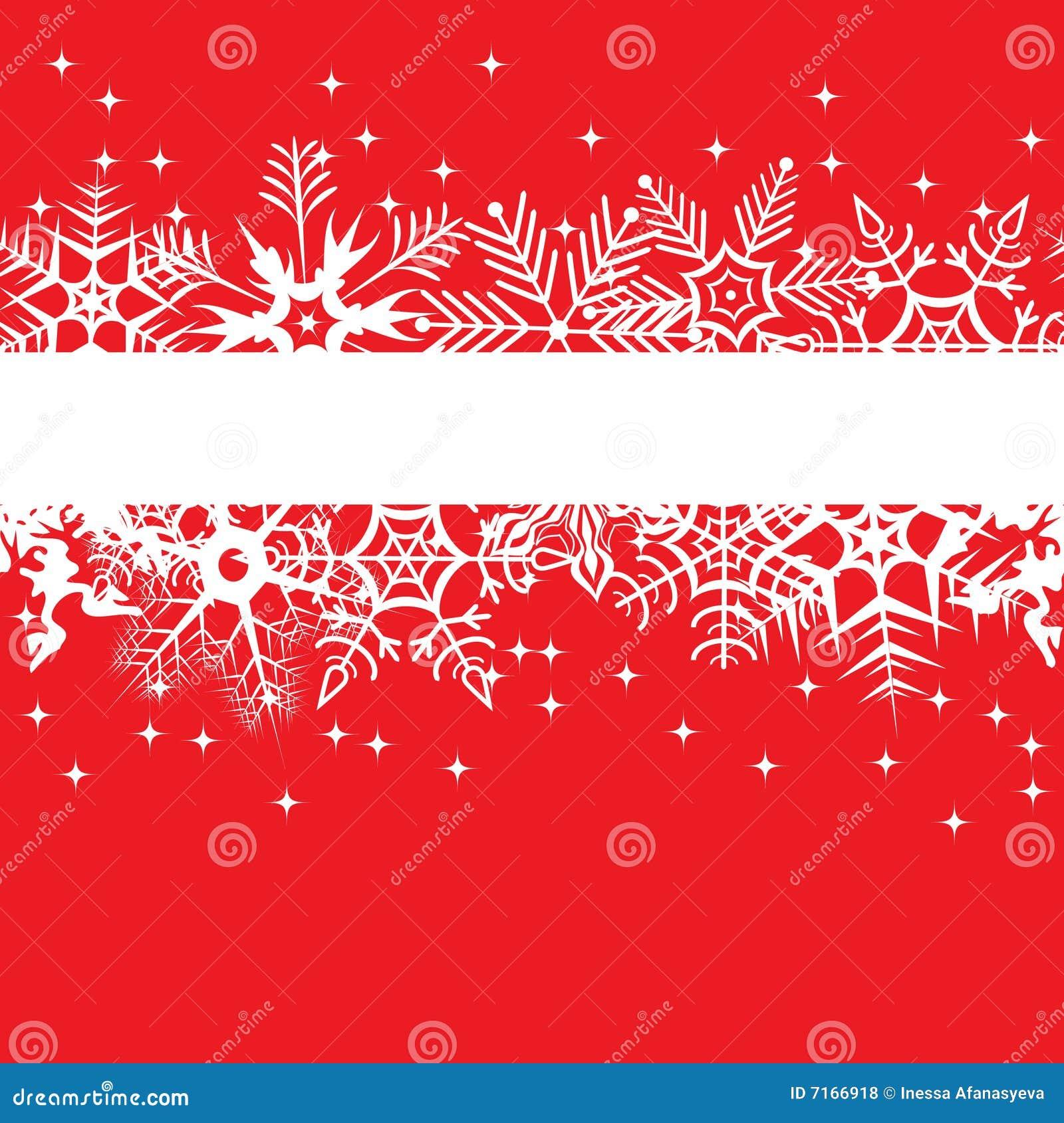 Rote Winterfahne