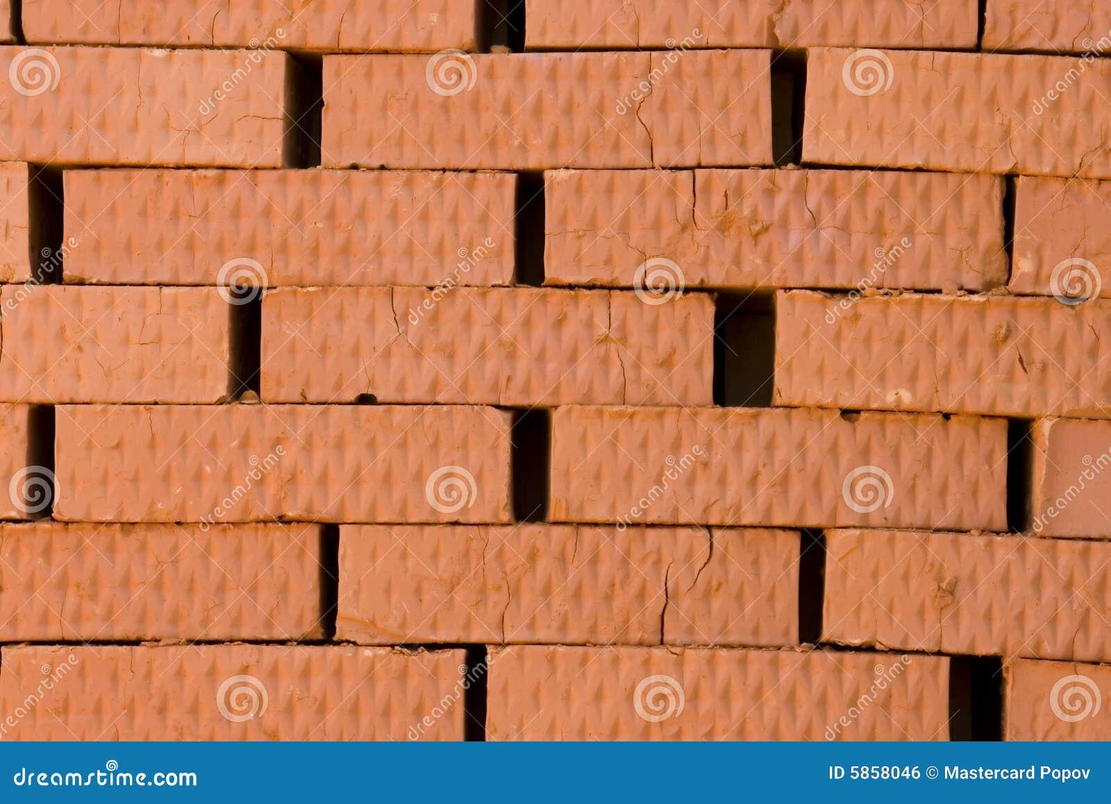 rote ziegelsteine stockfoto bild von stapeln vollenden 5858046. Black Bedroom Furniture Sets. Home Design Ideas