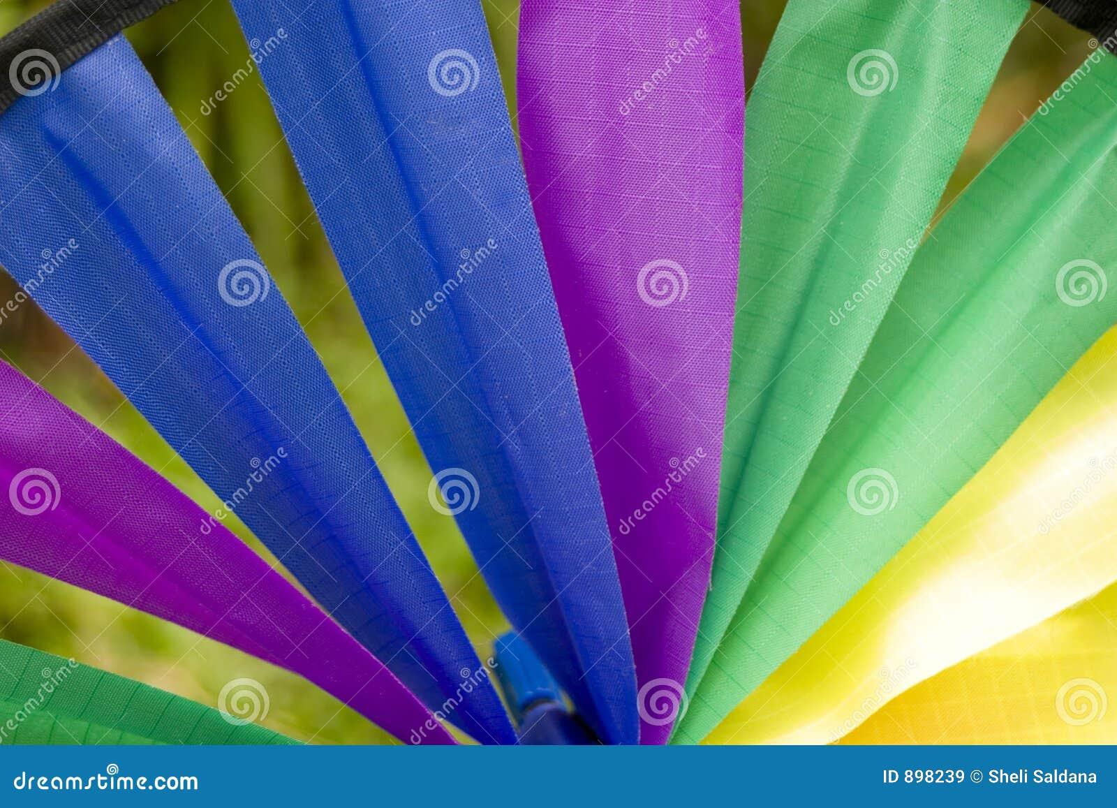 Rotella del tessuto del Rainbow