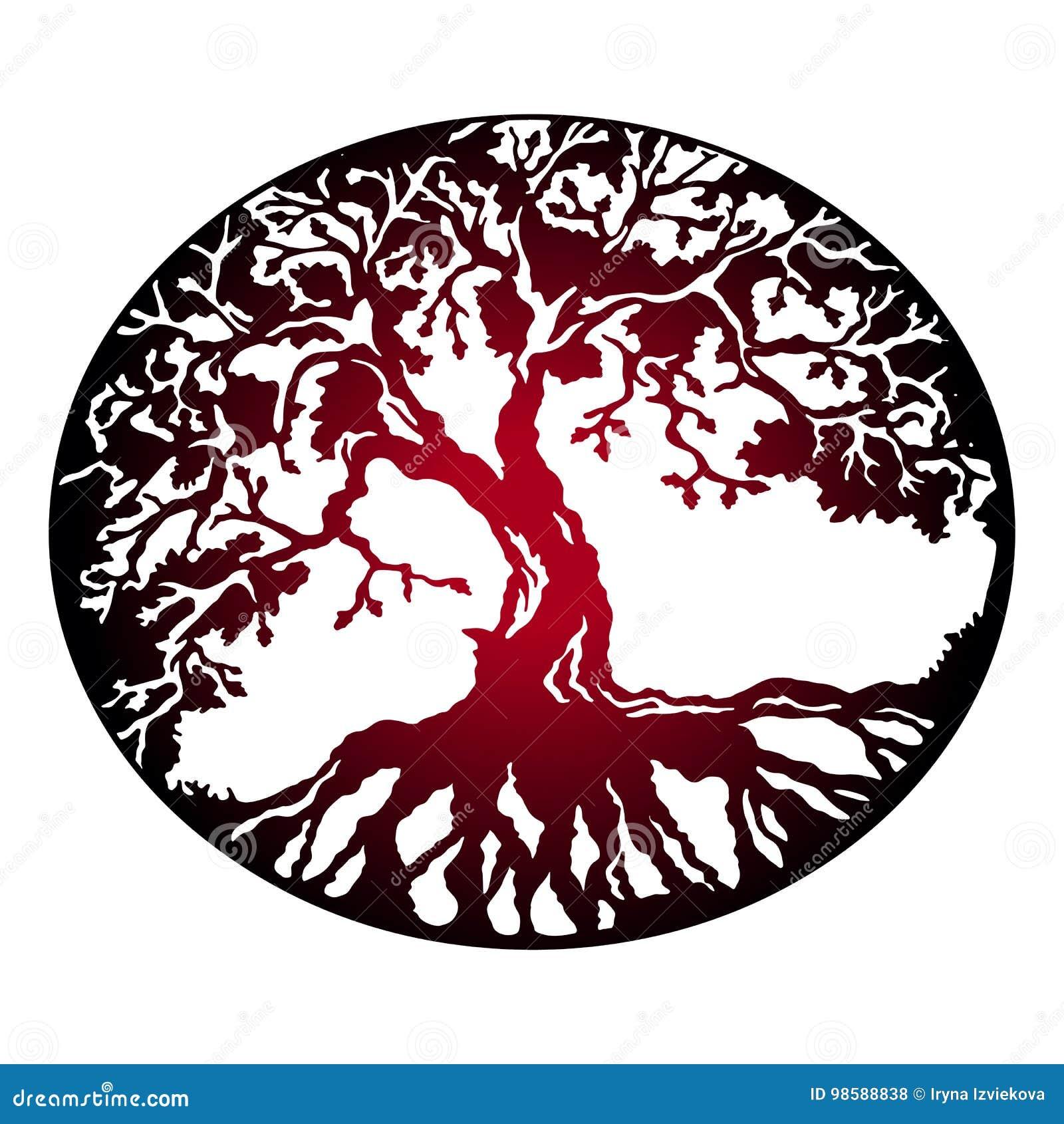 Roter Baum des Lebens