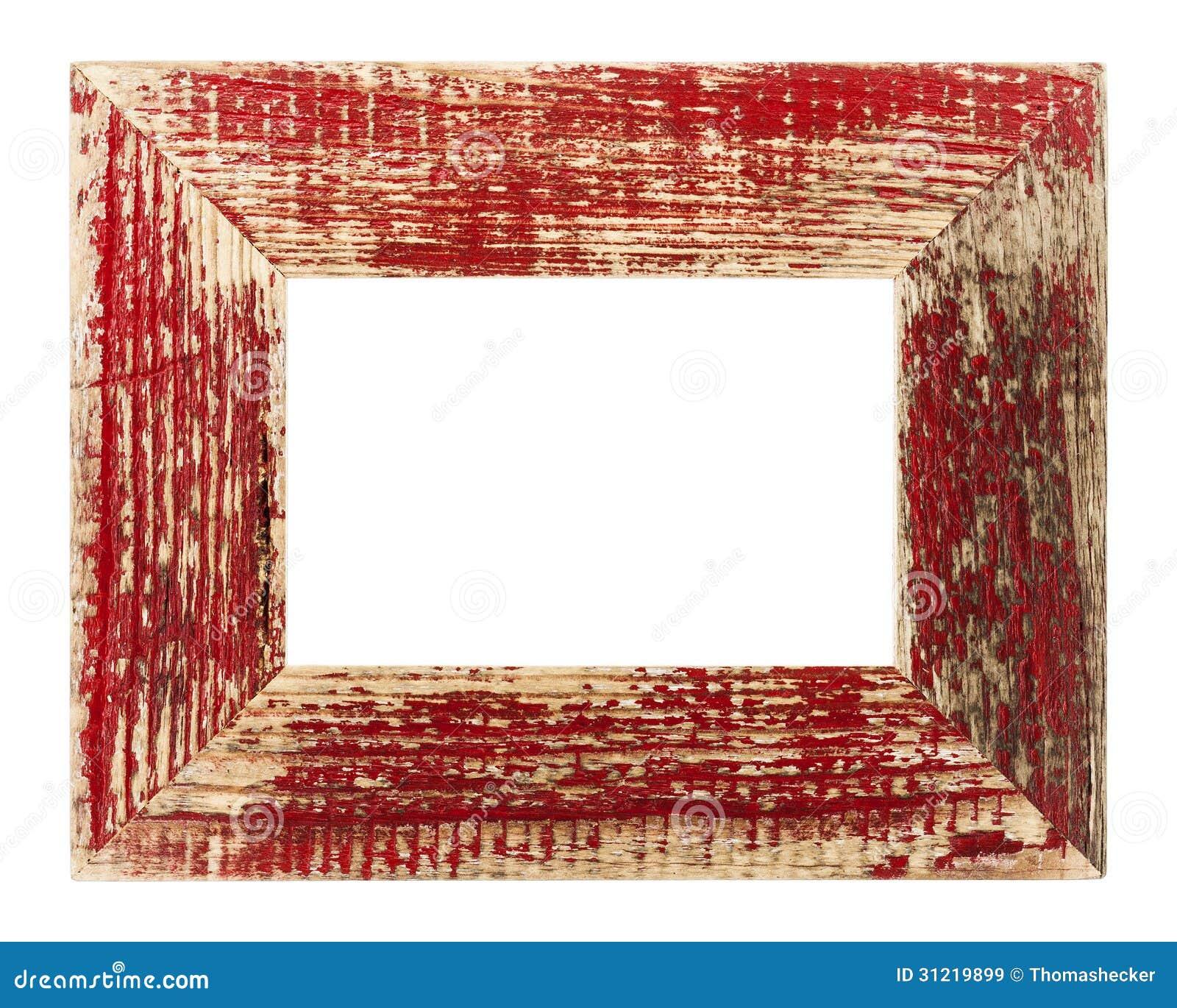 Roter Bilderrahmen Der Weinlese Stockbild - Bild von antiquated ...